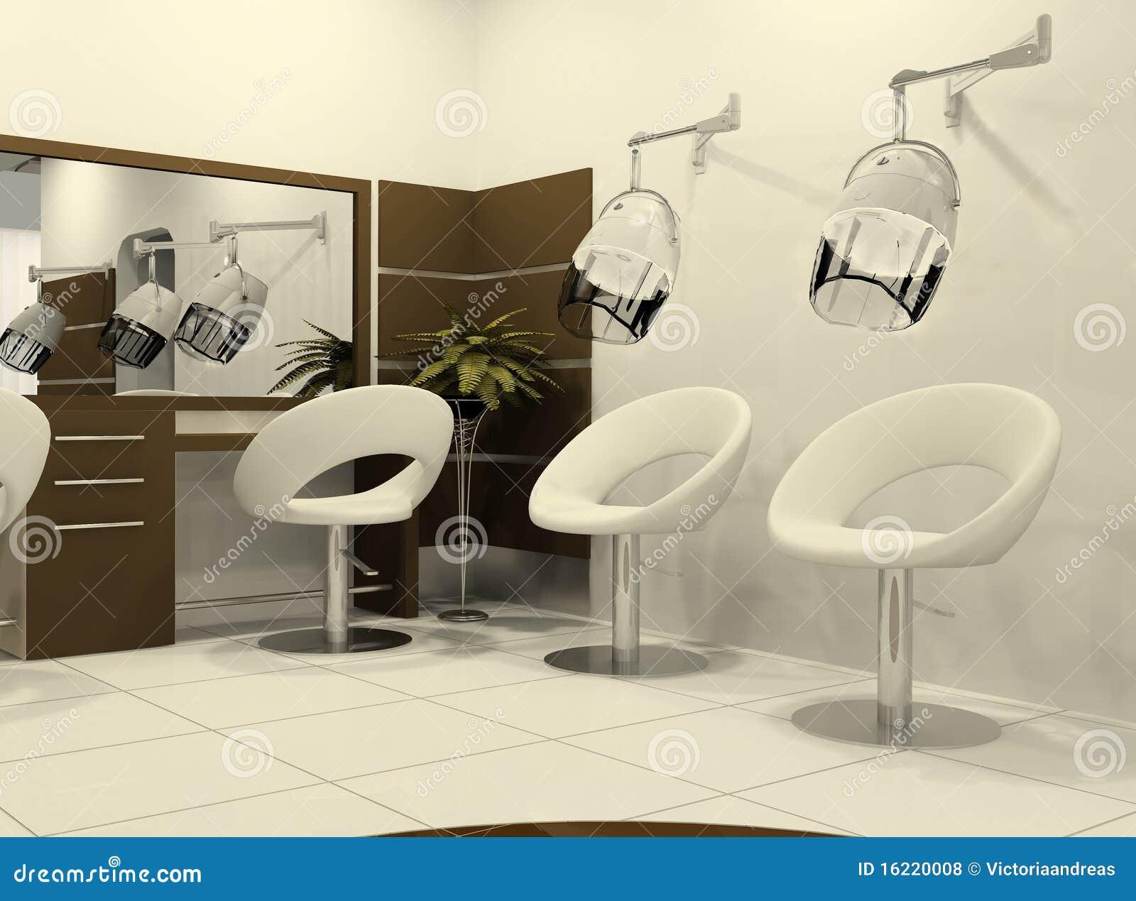 Intérieur Luxueux D\'un Salon De Coiffure Illustration Stock ...