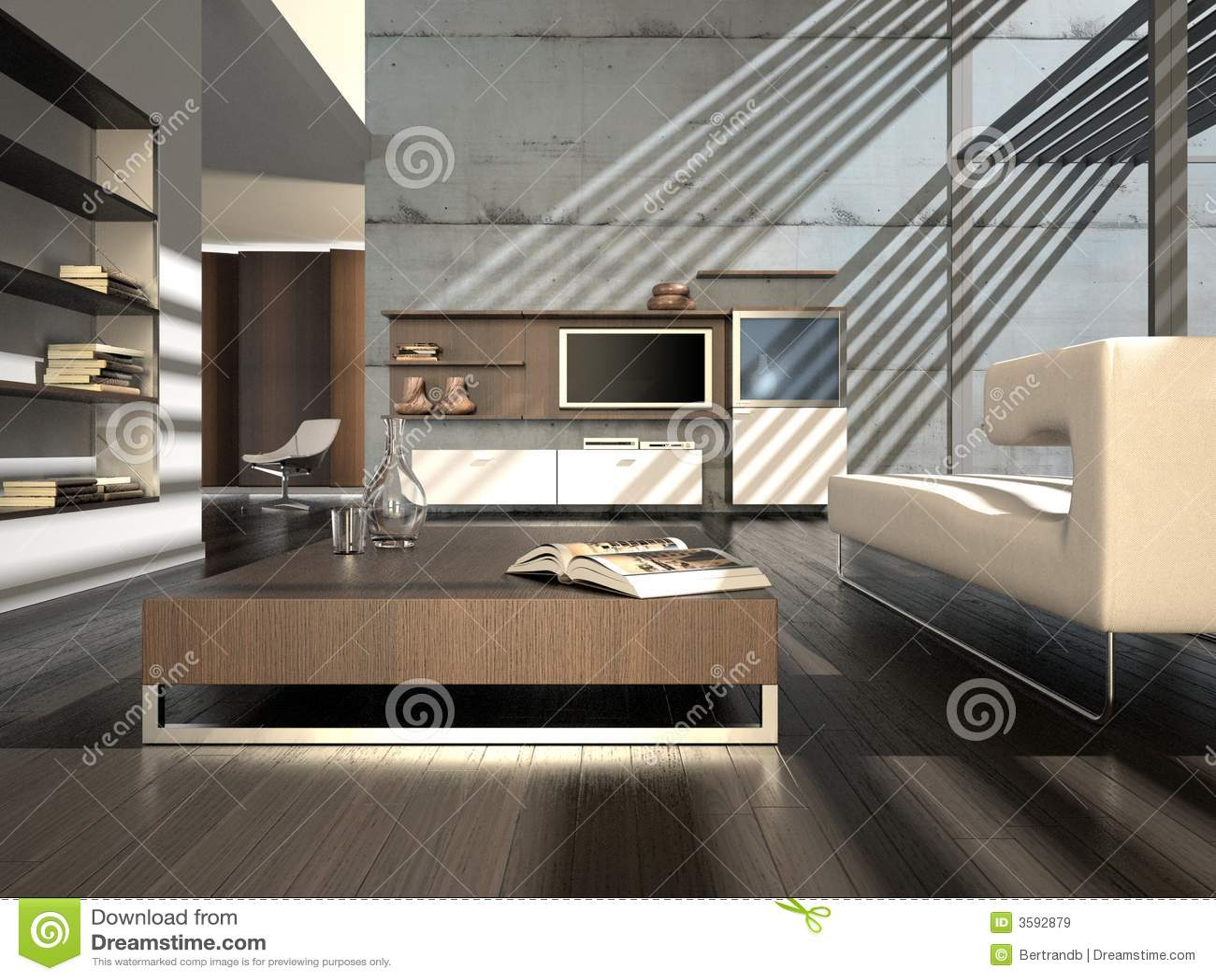 Intérieur moderne avec le plasma TV