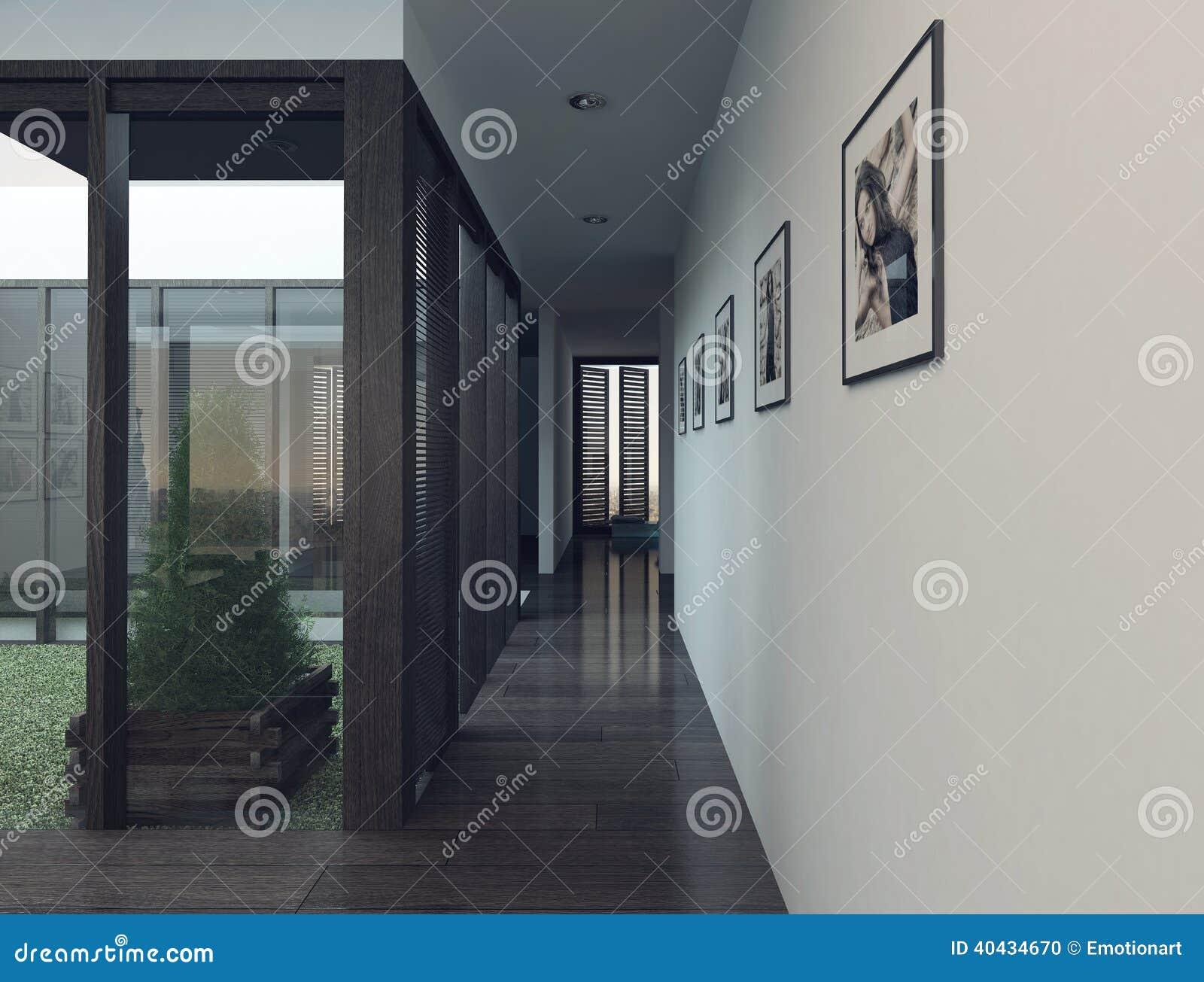 Int Rieur Moderne D 39 Appartement Avec Le Long Couloir