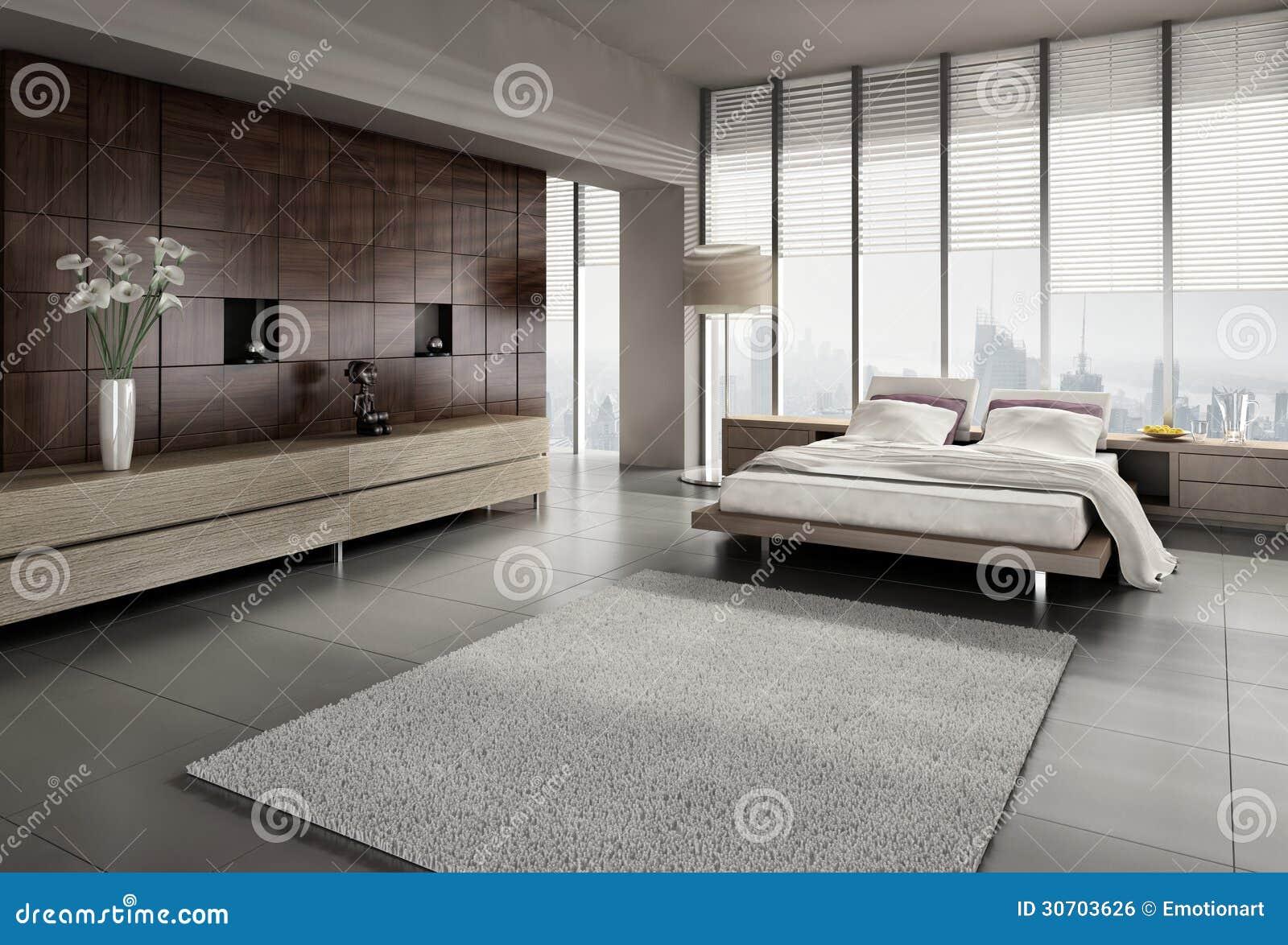 Intérieur moderne de chambre à coucher