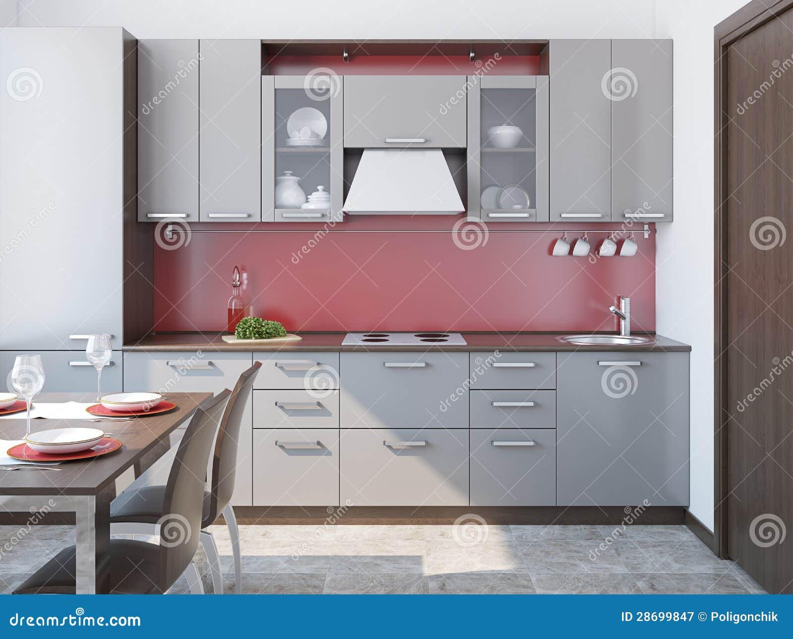 Int rieur moderne de cuisine photographie stock libre de droits image 286 - Interieur cuisine moderne ...