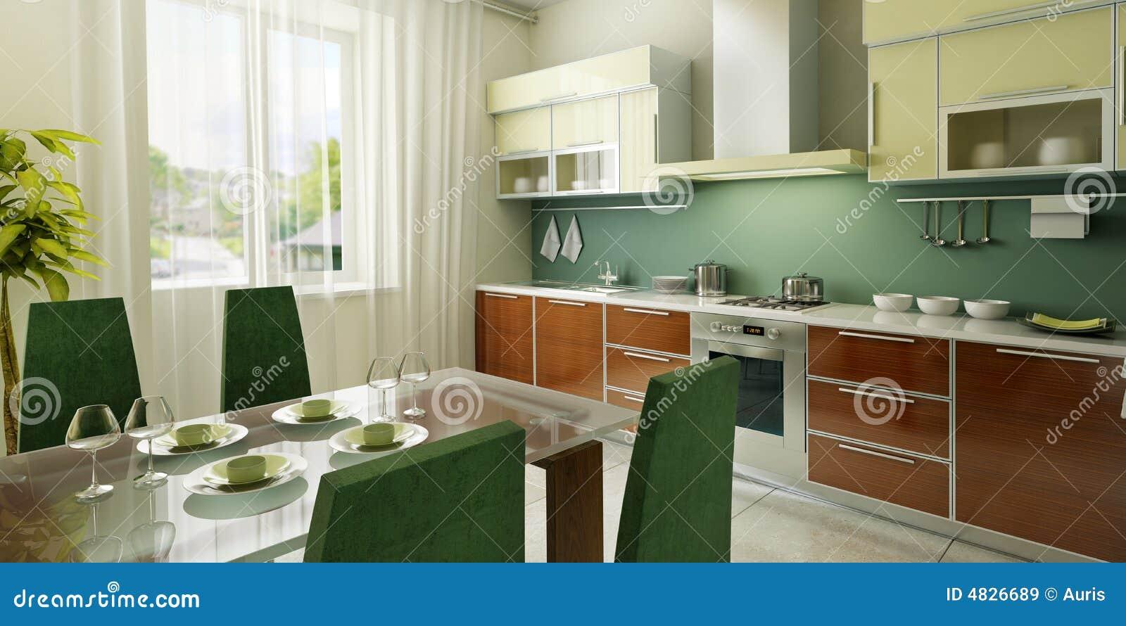 Intérieur moderne de cuisine