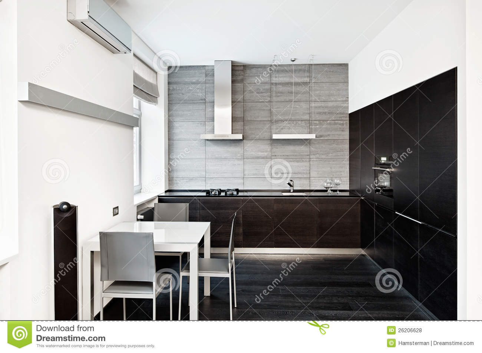 Int rieur moderne de cuisine de type de minimalisme - Interieur cuisine moderne ...