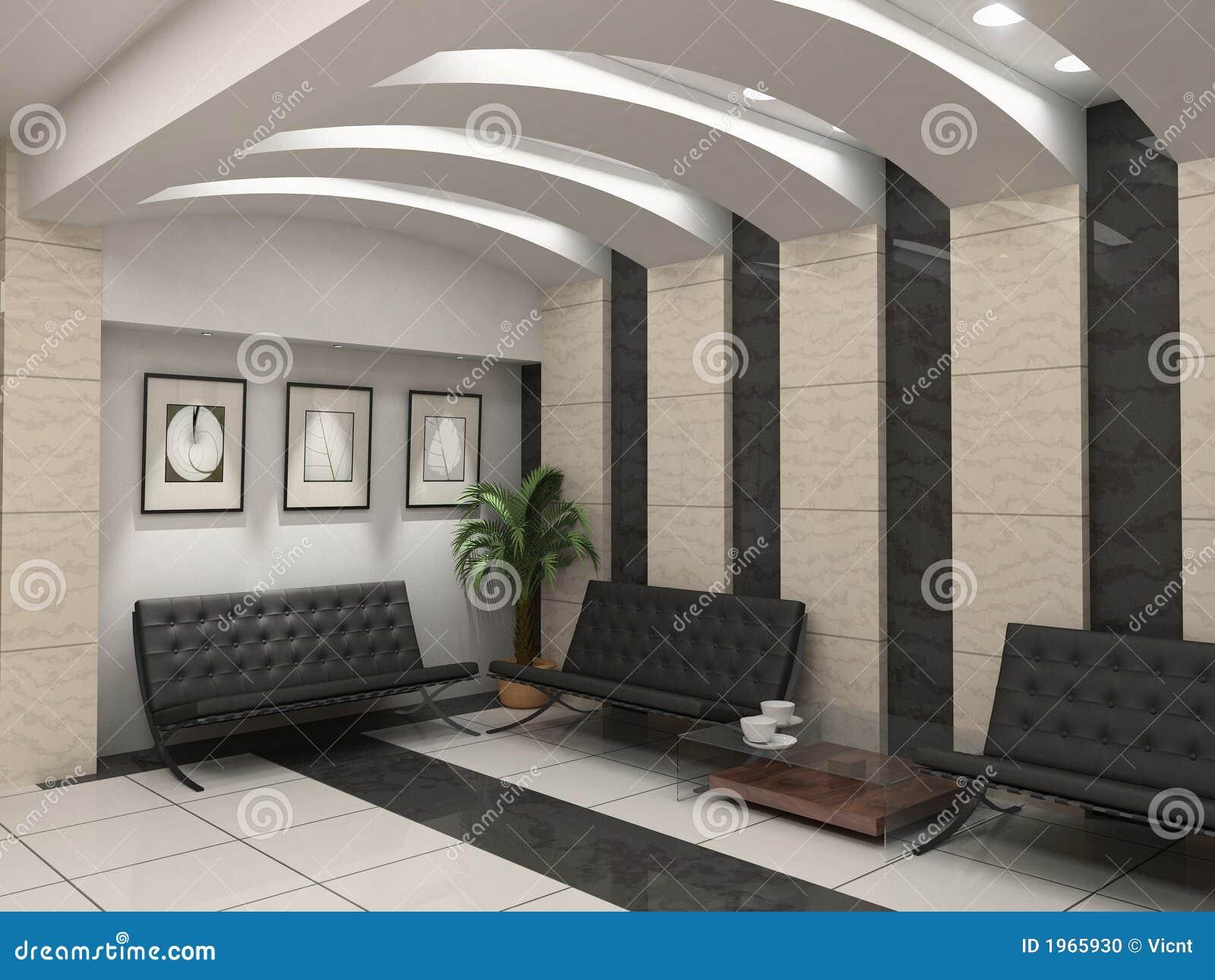 Intérieur moderne de foyer