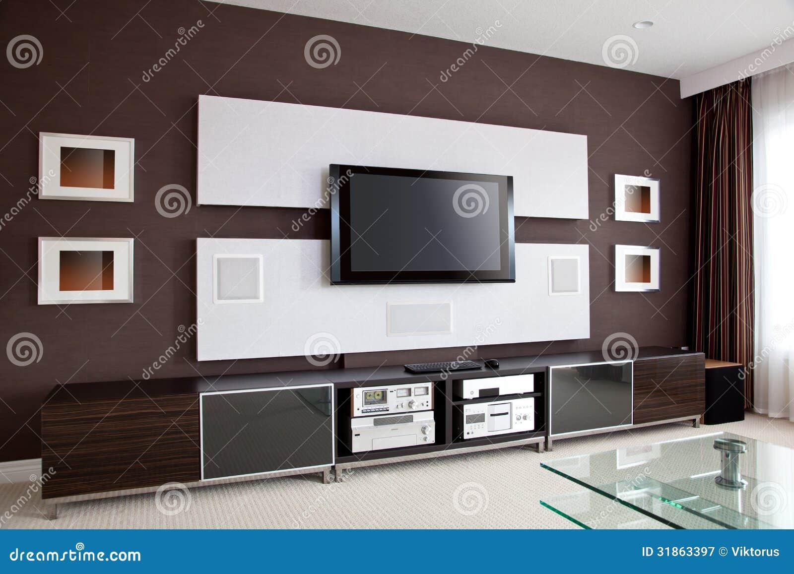 Int233rieur Moderne De Pi232ce De Home Cin233ma Avec L233cran  : intrieur moderne de pice de home cinma avec l cran plat tv 31863397 from fr.dreamstime.com size 1300 x 957 jpeg 129kB