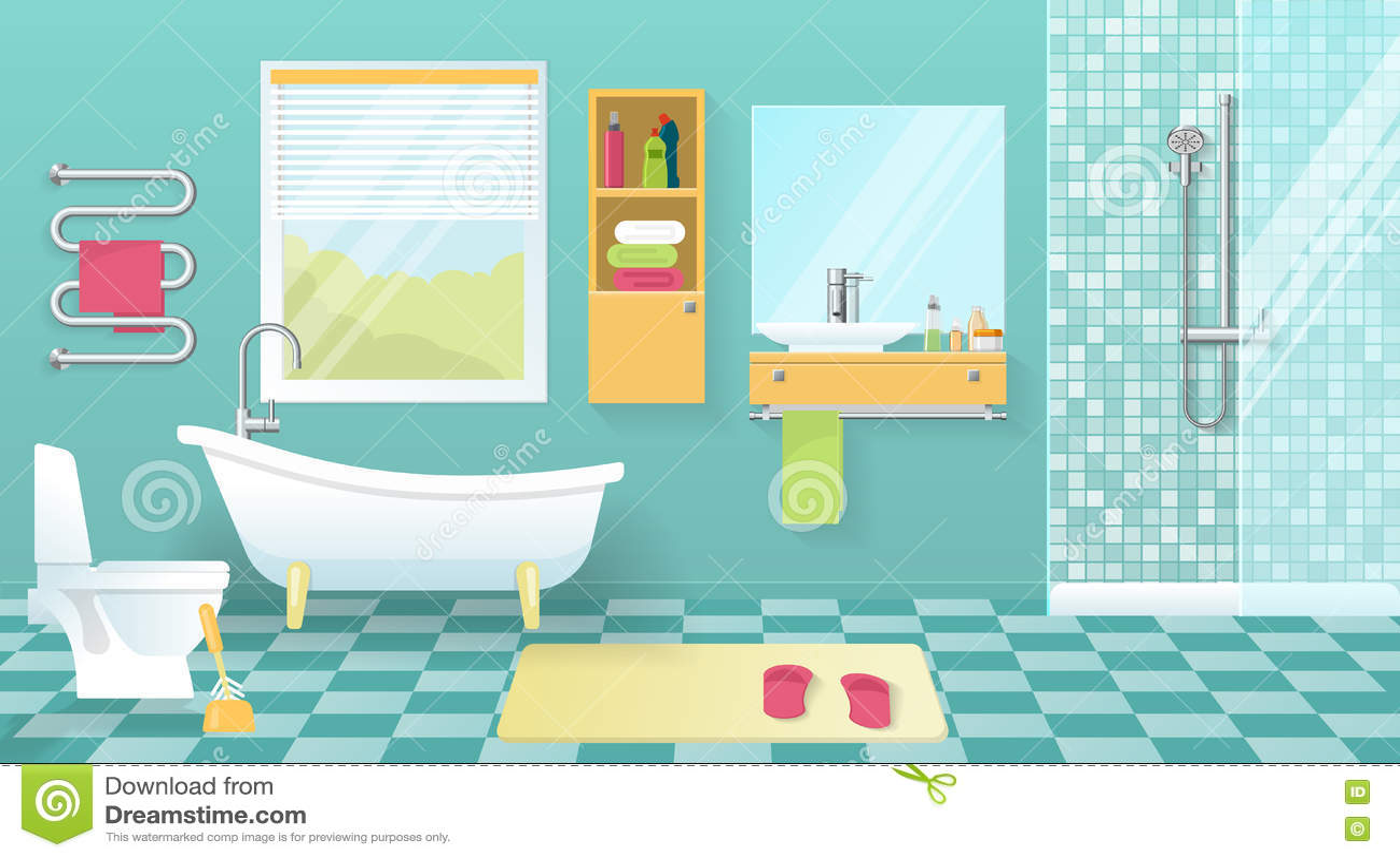 Intérieur moderne de salle de bains