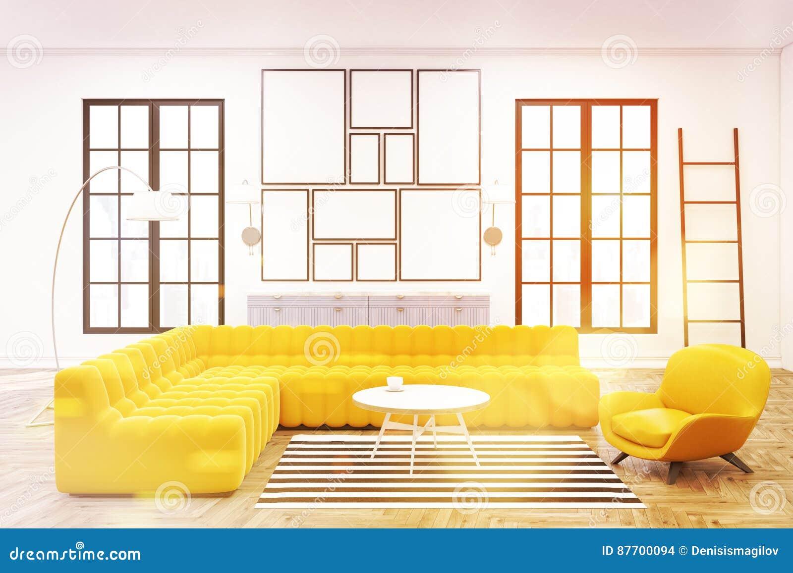 Intérieur moderne de salon, galerie d affiche, modifiée la tonalité