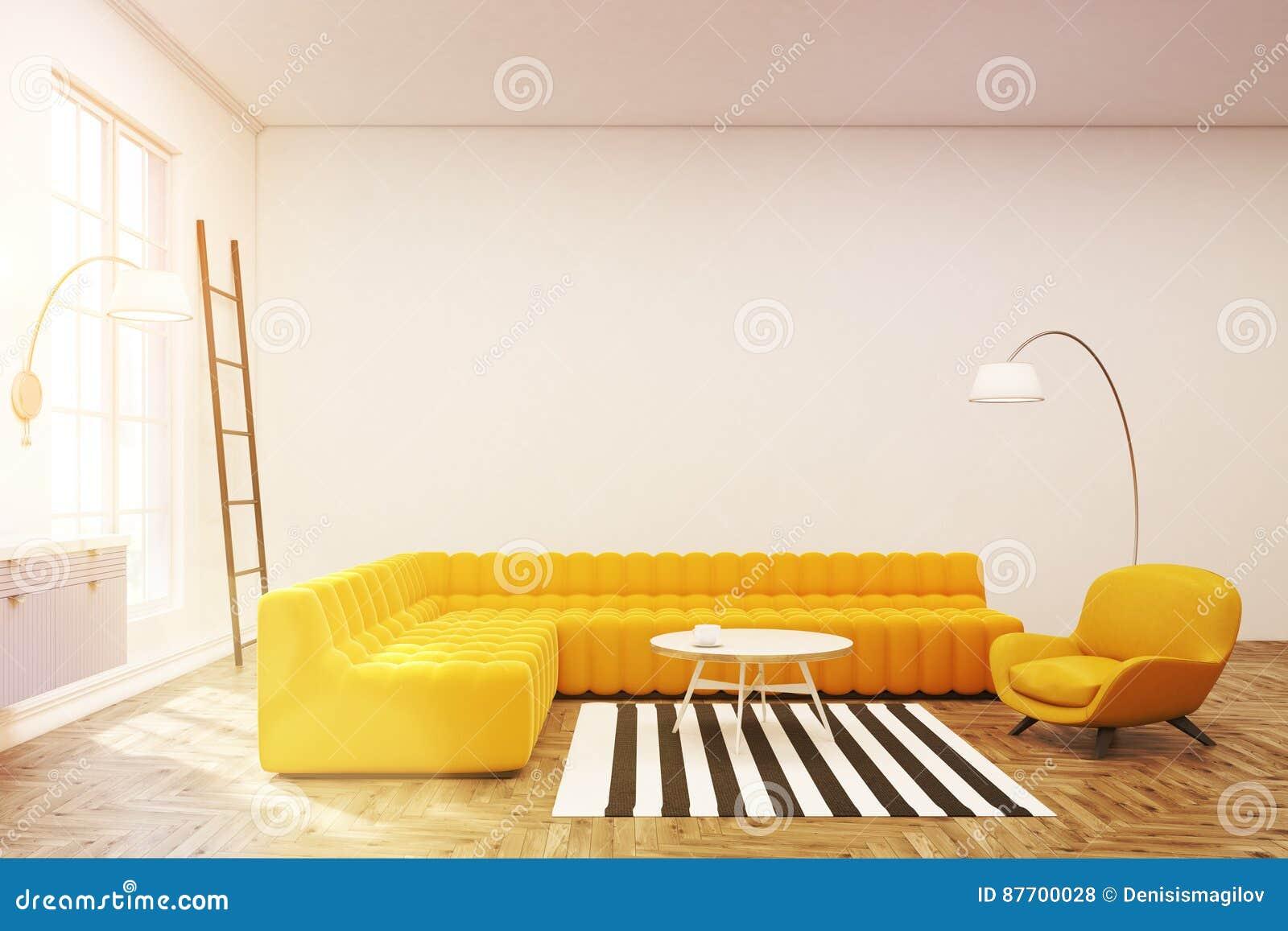 Intérieur moderne de salon, tapis de zèbre