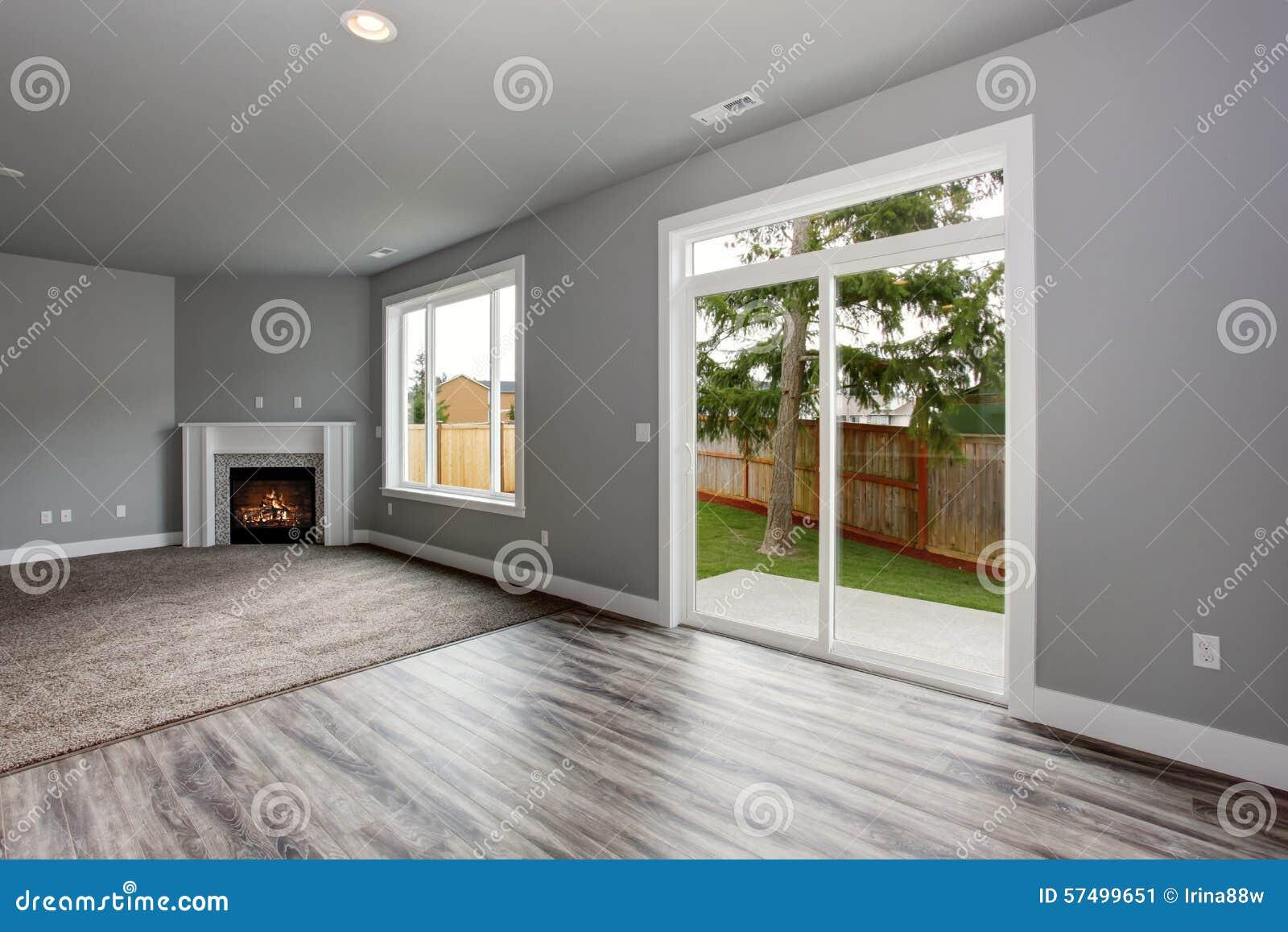 int rieur moderne et compl tement gris de maison photo