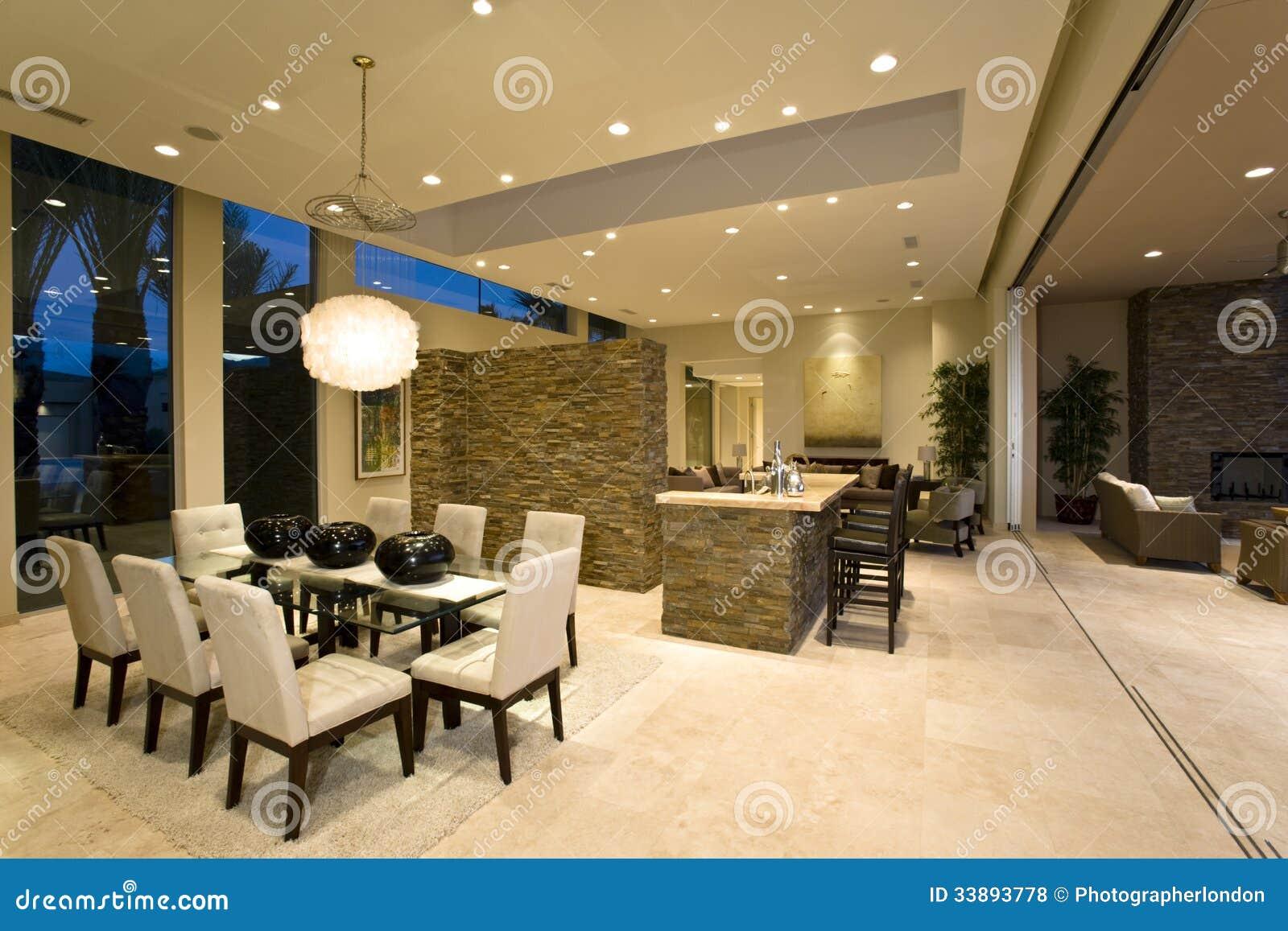 Interieur maison moderne salon cuisine for Interieur de chambre moderne
