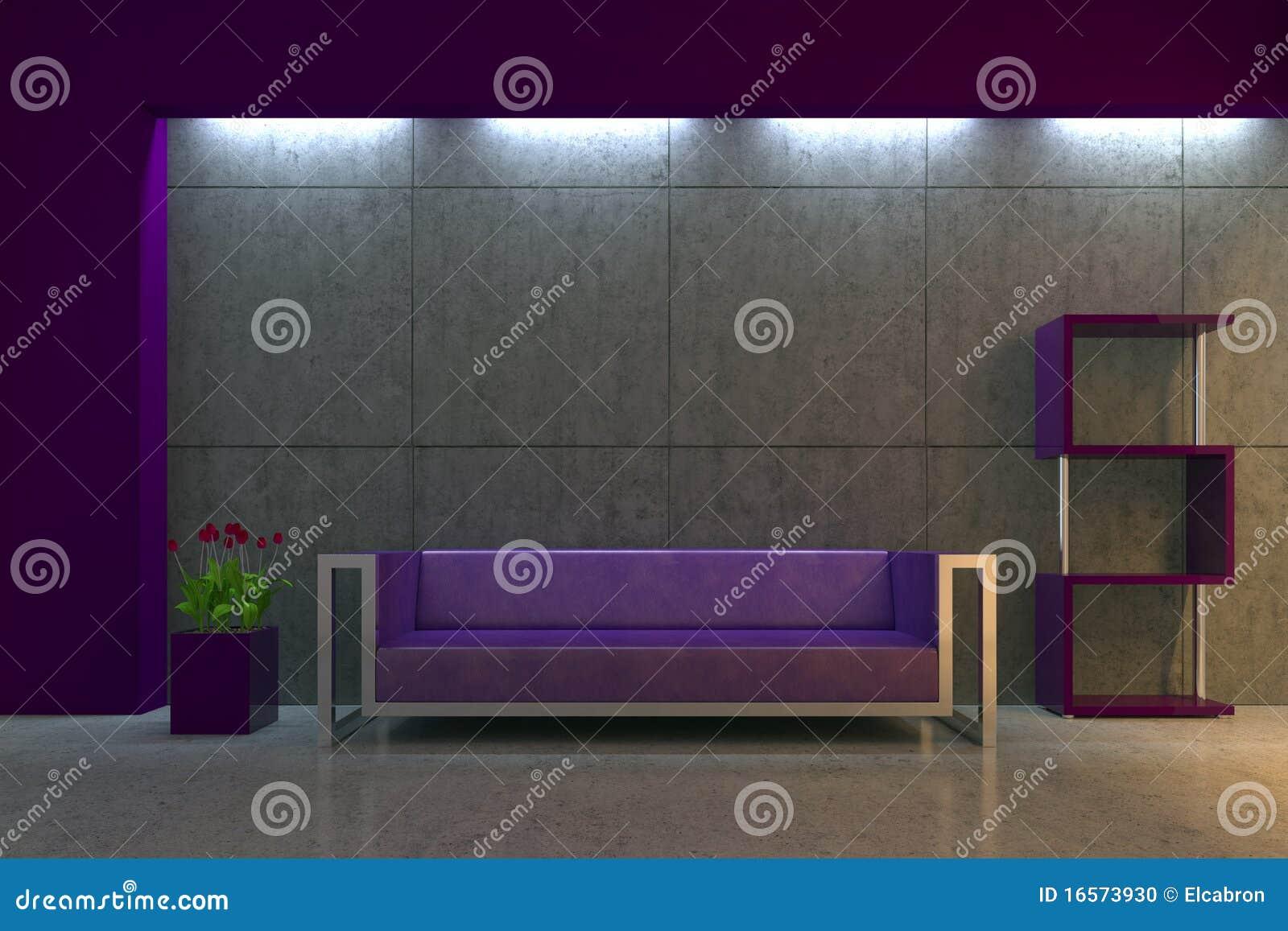 Intérieur moderne la nuit