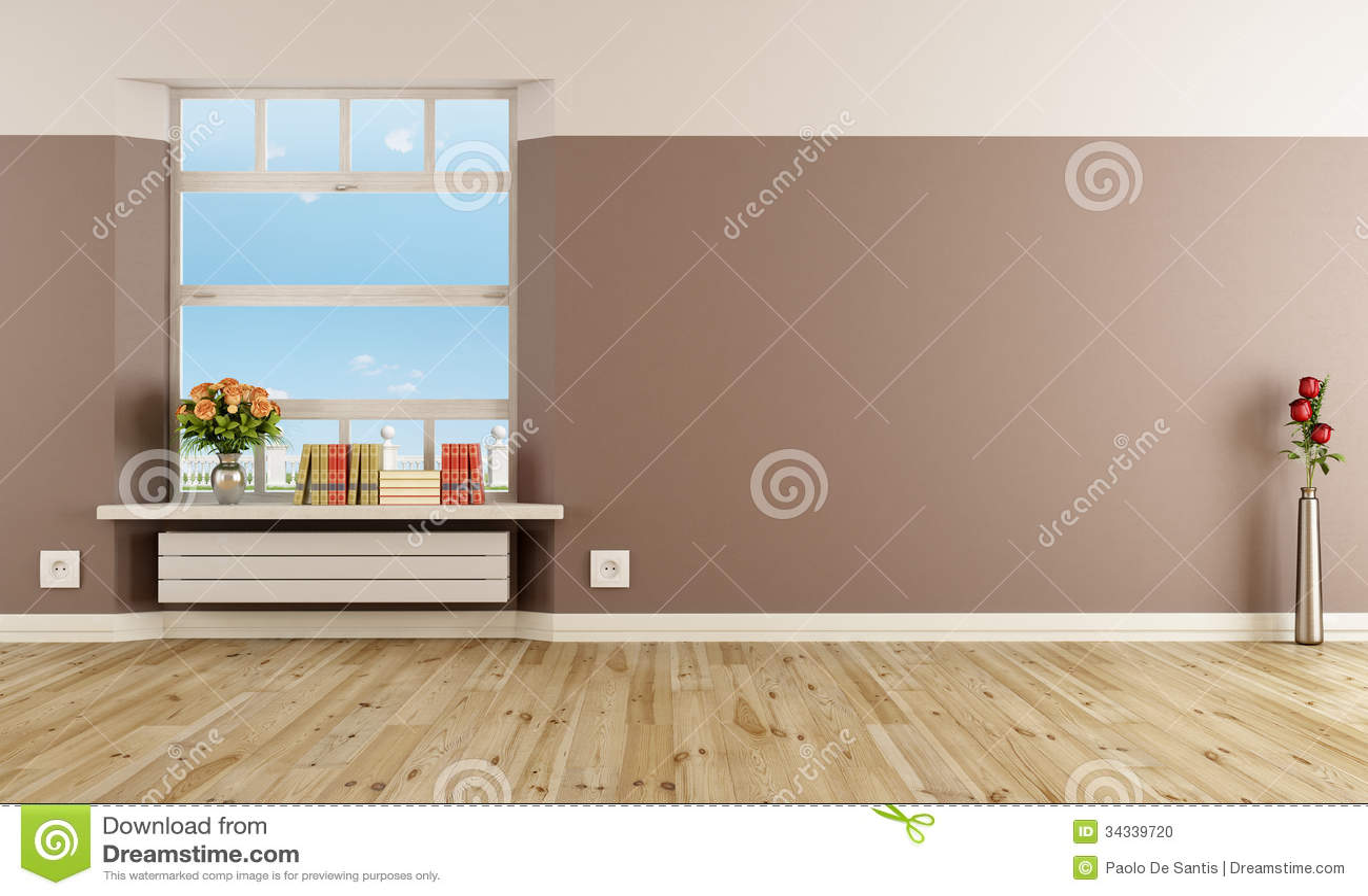 Int rieur moderne vide avec le radiateur photo stock for Le vide interieur