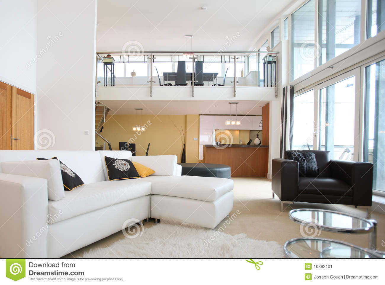 Int rieur ouvert moderne d 39 appartement de plan image stock for Decoration interieur appartement moderne