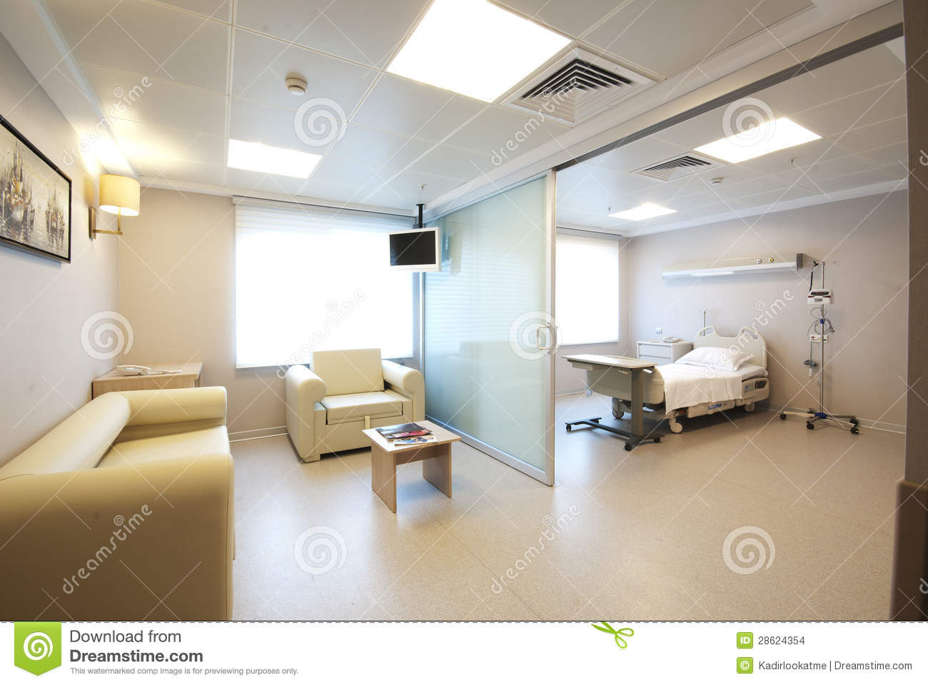 Int 233 Rieur Priv 233 De Chambre De H 244 Pital Photo Stock Image