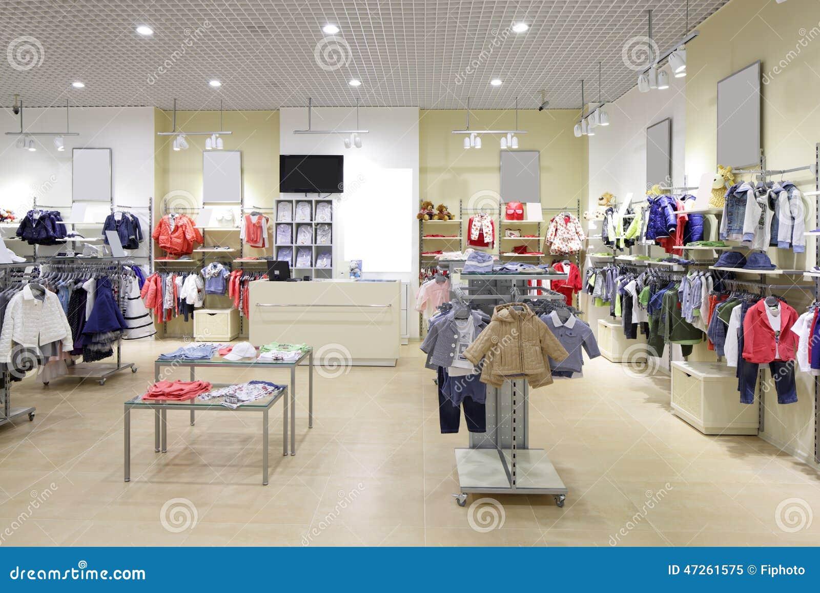 fc0dc824f69da Intérieur tout neuf de luxe et à la mode de magasin de tissu d enfants