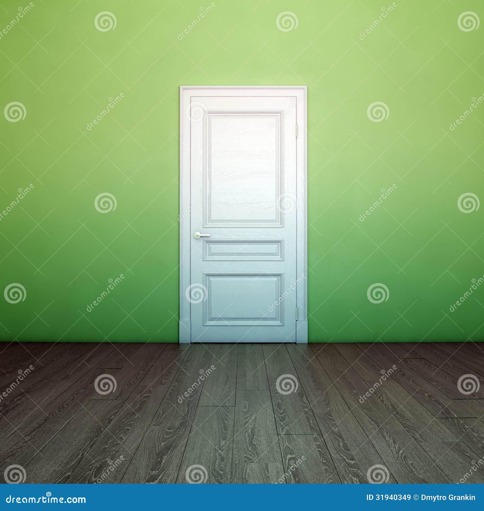 Int rieur vert clair vide avec la porte blanche images for Porte blanche interieur