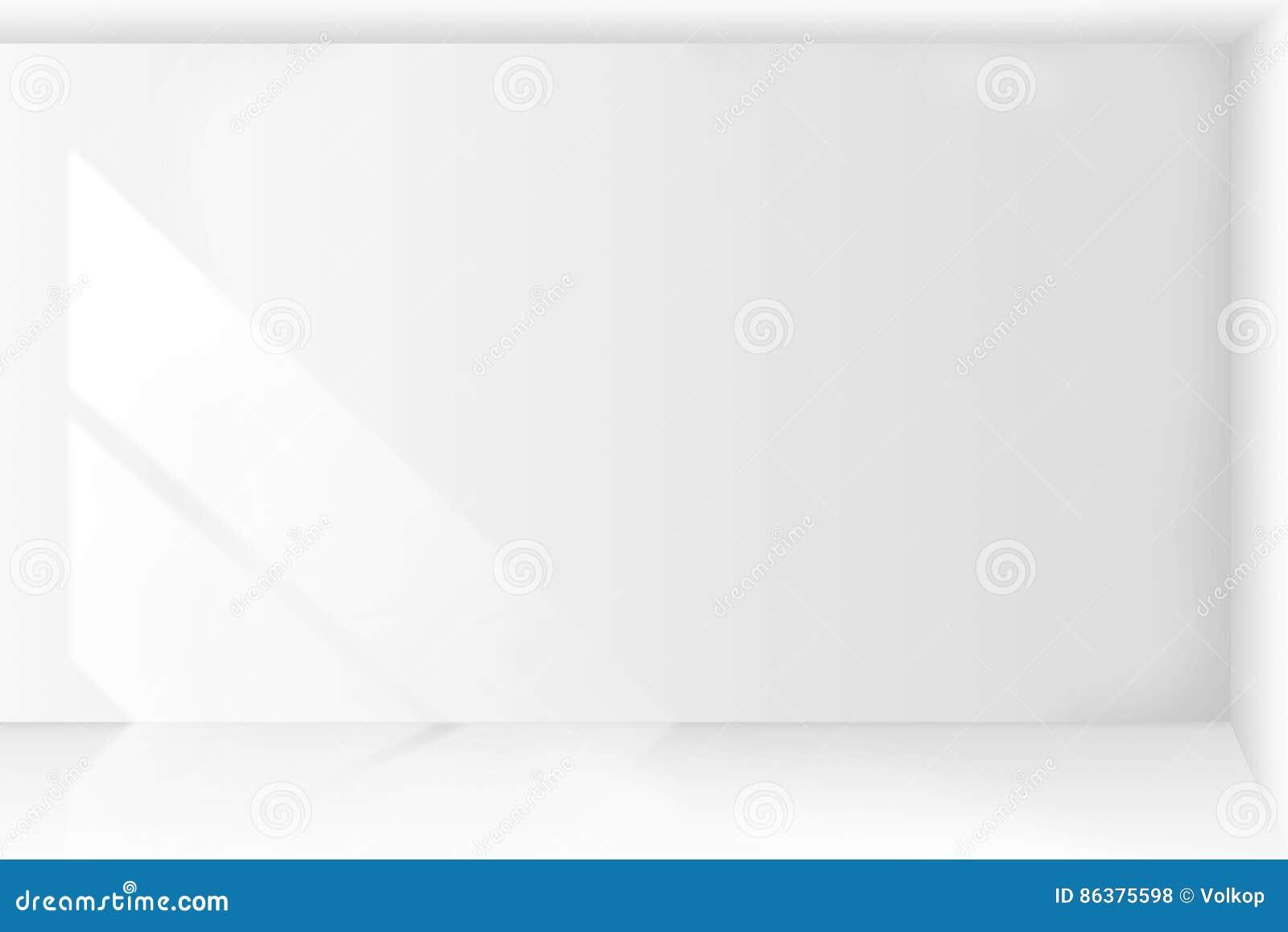 Intérieur vide abstrait de pièce blanche d architecture avec des murs