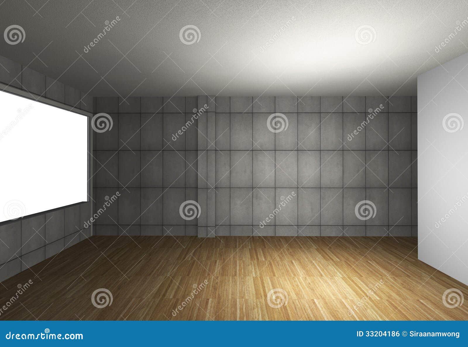 Int rieur vide avec le plancher nu de mur en b ton et en for Le vide interieur