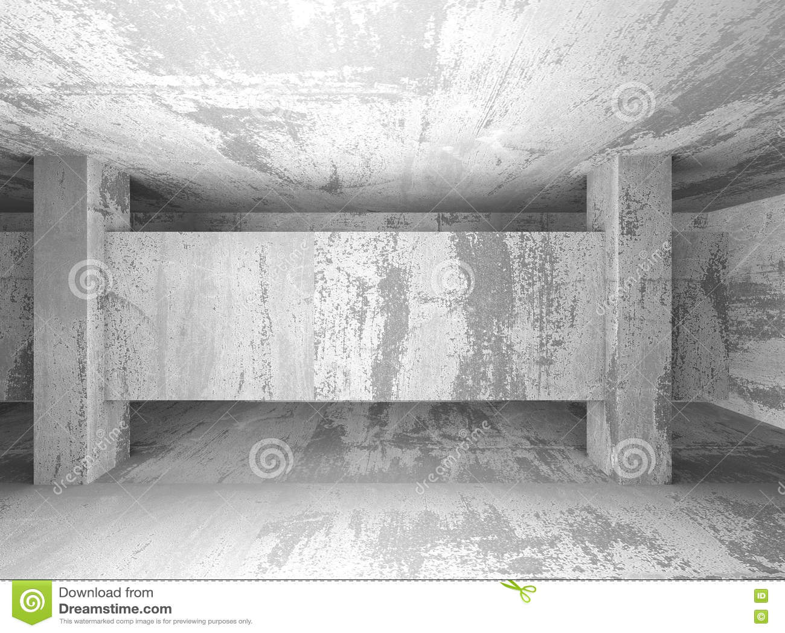 Sol En Beton Interieur intérieur vide de pièce de sous-sol sombre murs en béton