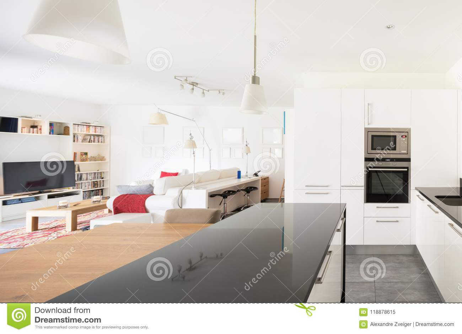 Intérieurs d appartement meublé moderne
