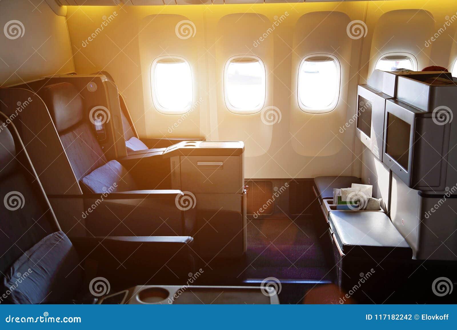 Intérieurs d avion, première classe