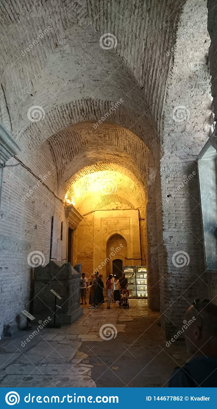 Int?rieur de Hagia Sophia ? Istanbul Turquie - fond d architecture