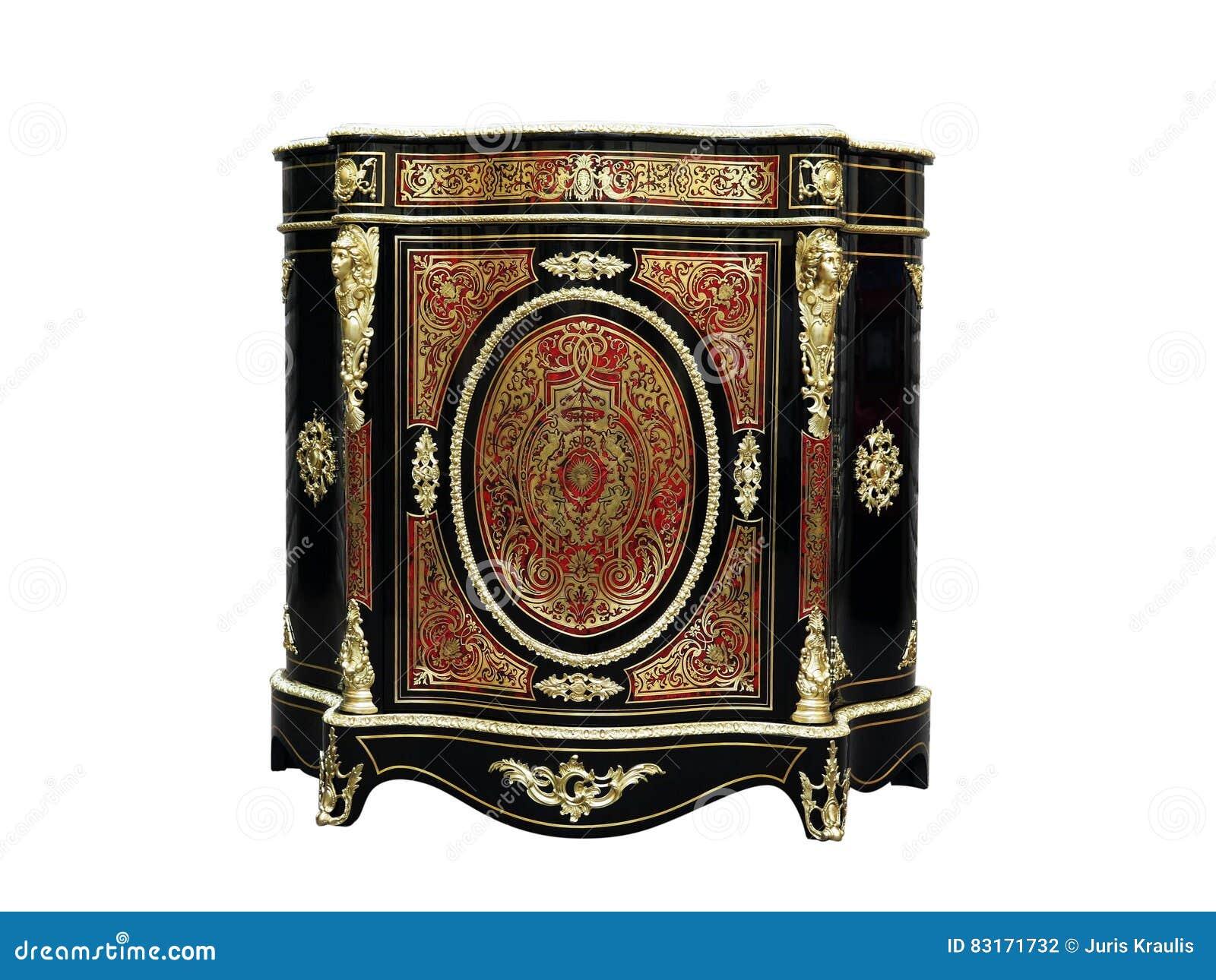 La Credenza Francese : Intarsio francese della credenza dei governi del xix secolo di