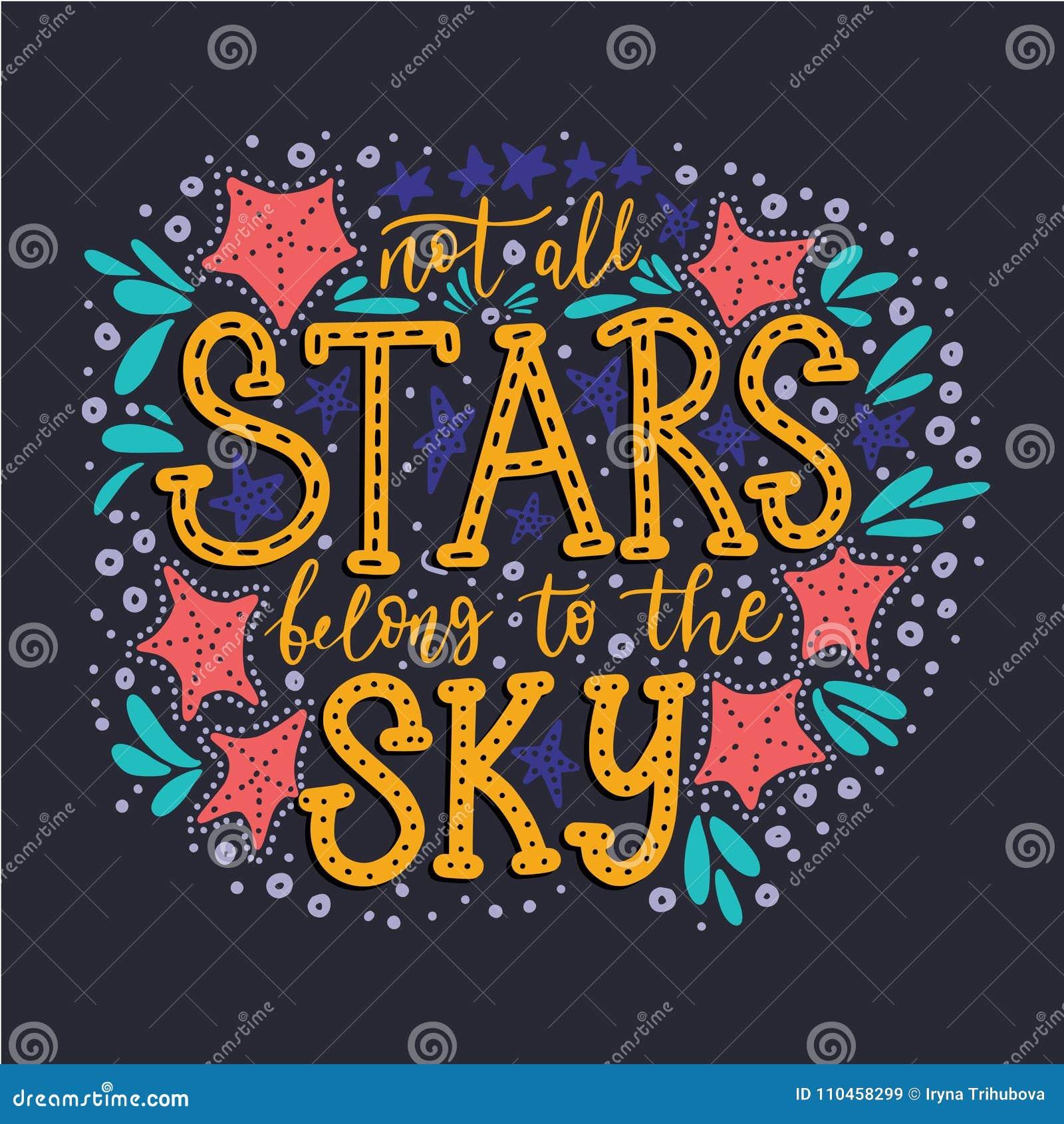 Inte alla stjärnor tillhör himlen vektor