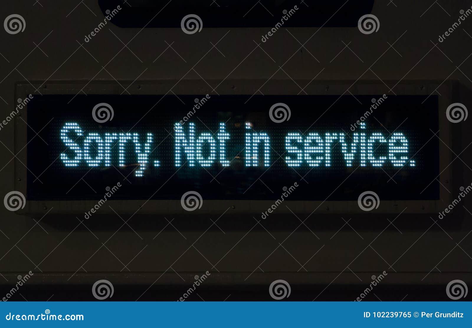 Inte i tjänste-