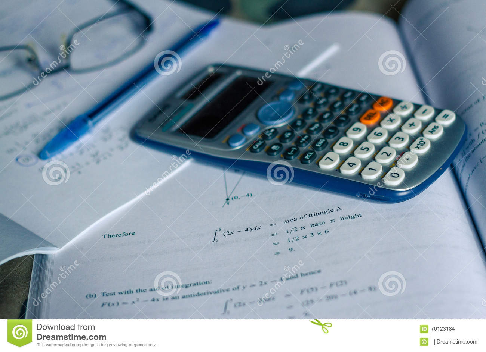 Integral Calculus Stock Photo - Image: 70123184