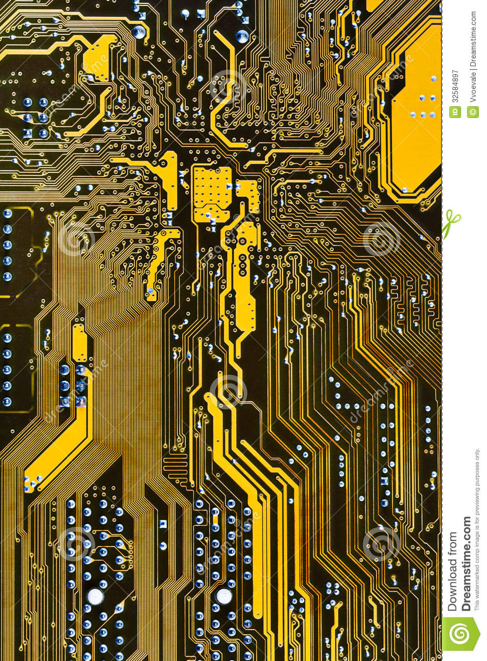 Integrated Circuit Board Stock Image Of Chipset 32584897 Electronic Chip Royalty Free Photo