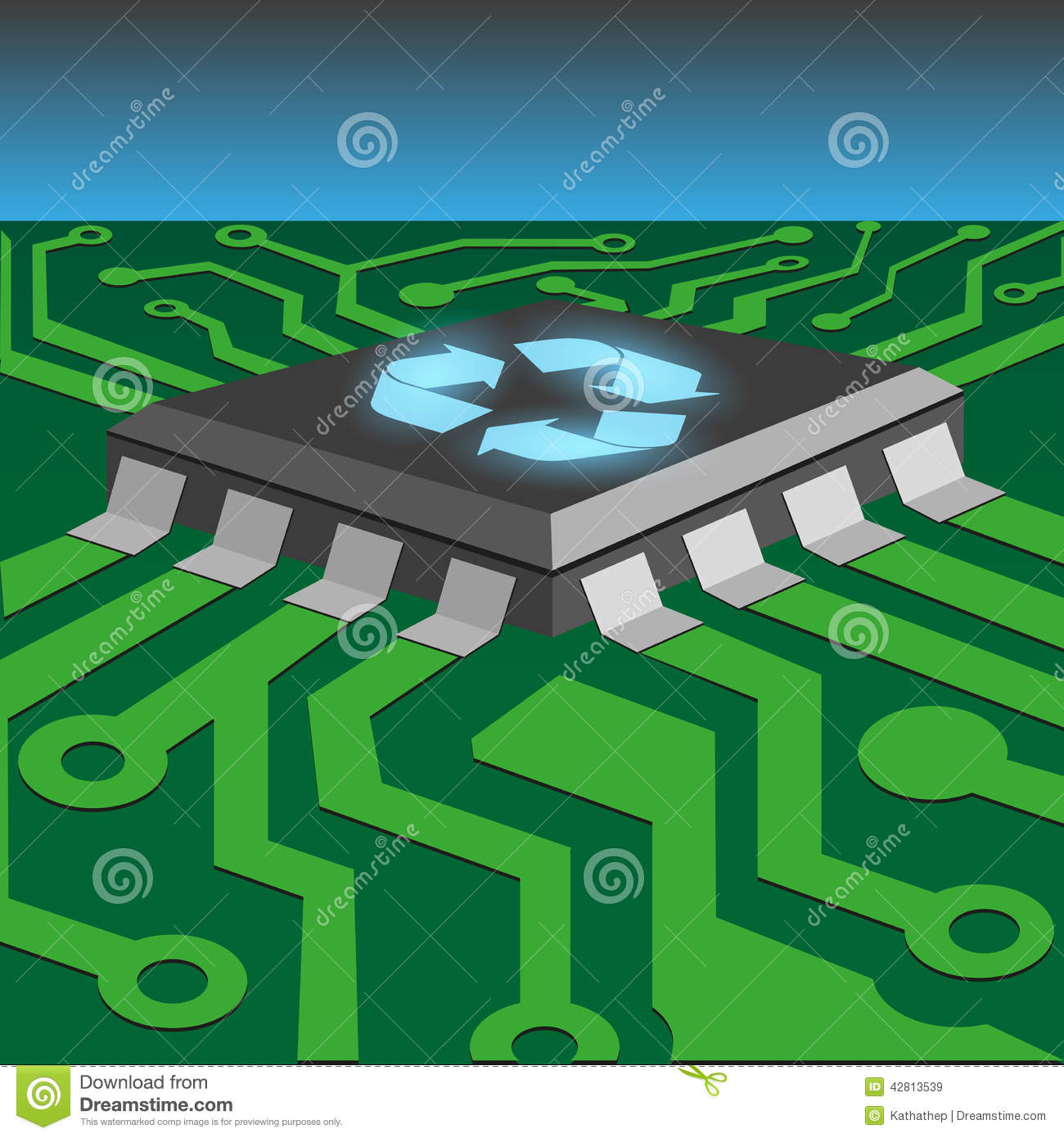 Integrated Circuit Stock Vector Illustration Of Background 42813539 Printed Boards Recycling Recycle Concept By On Board