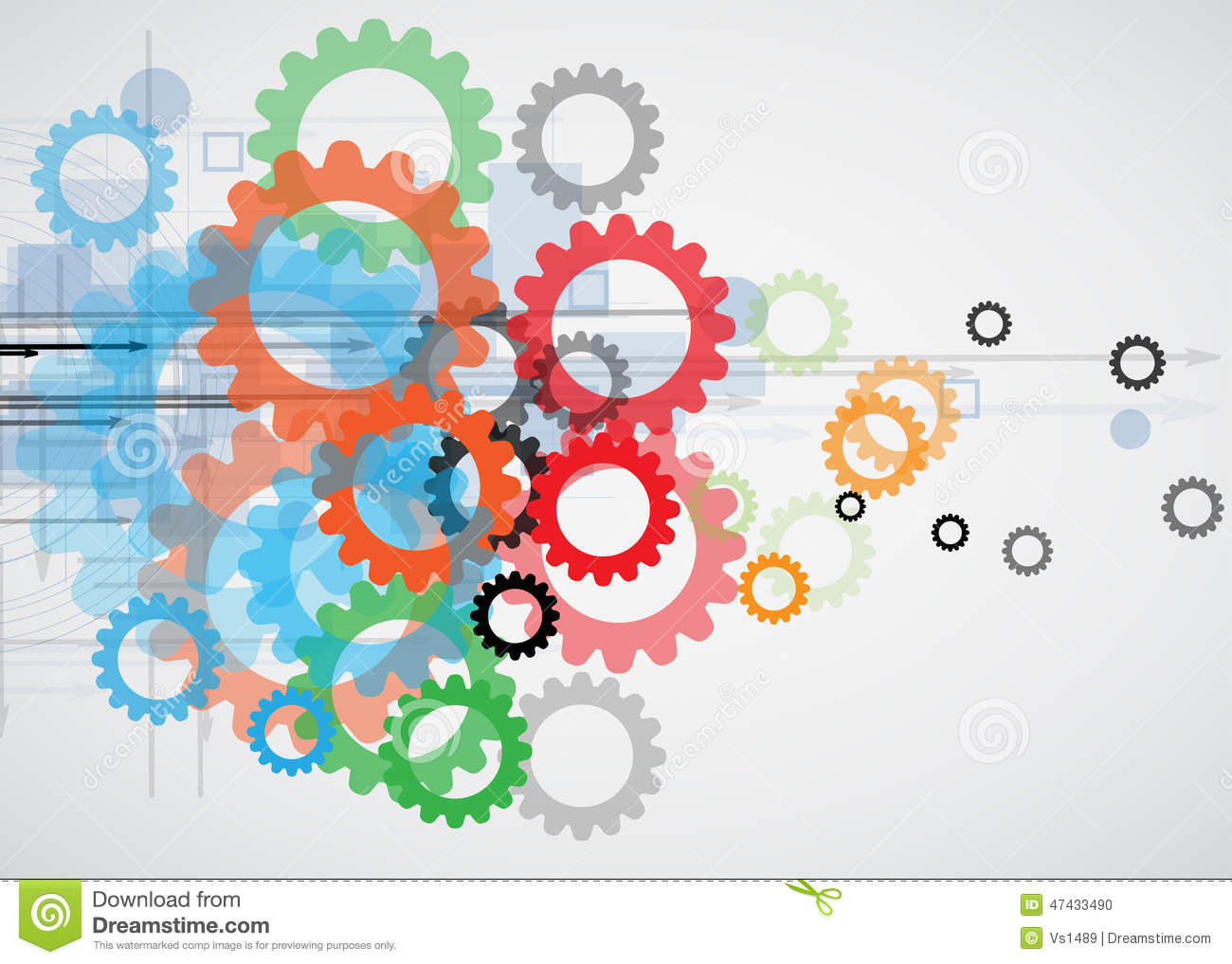 Integration And Innovation Technology Stock Vector - Image: 47433490