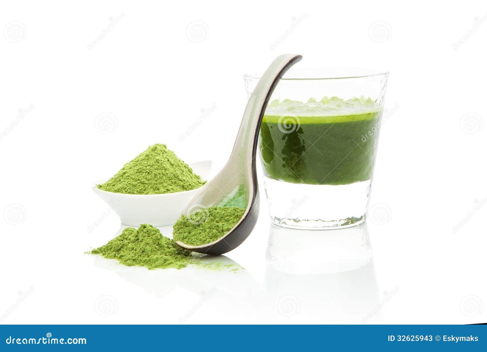 Integratori alimentari verdi.