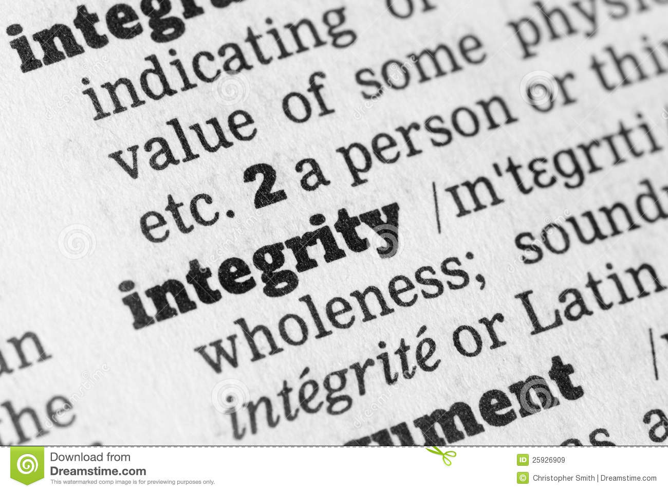 integrity definition essay