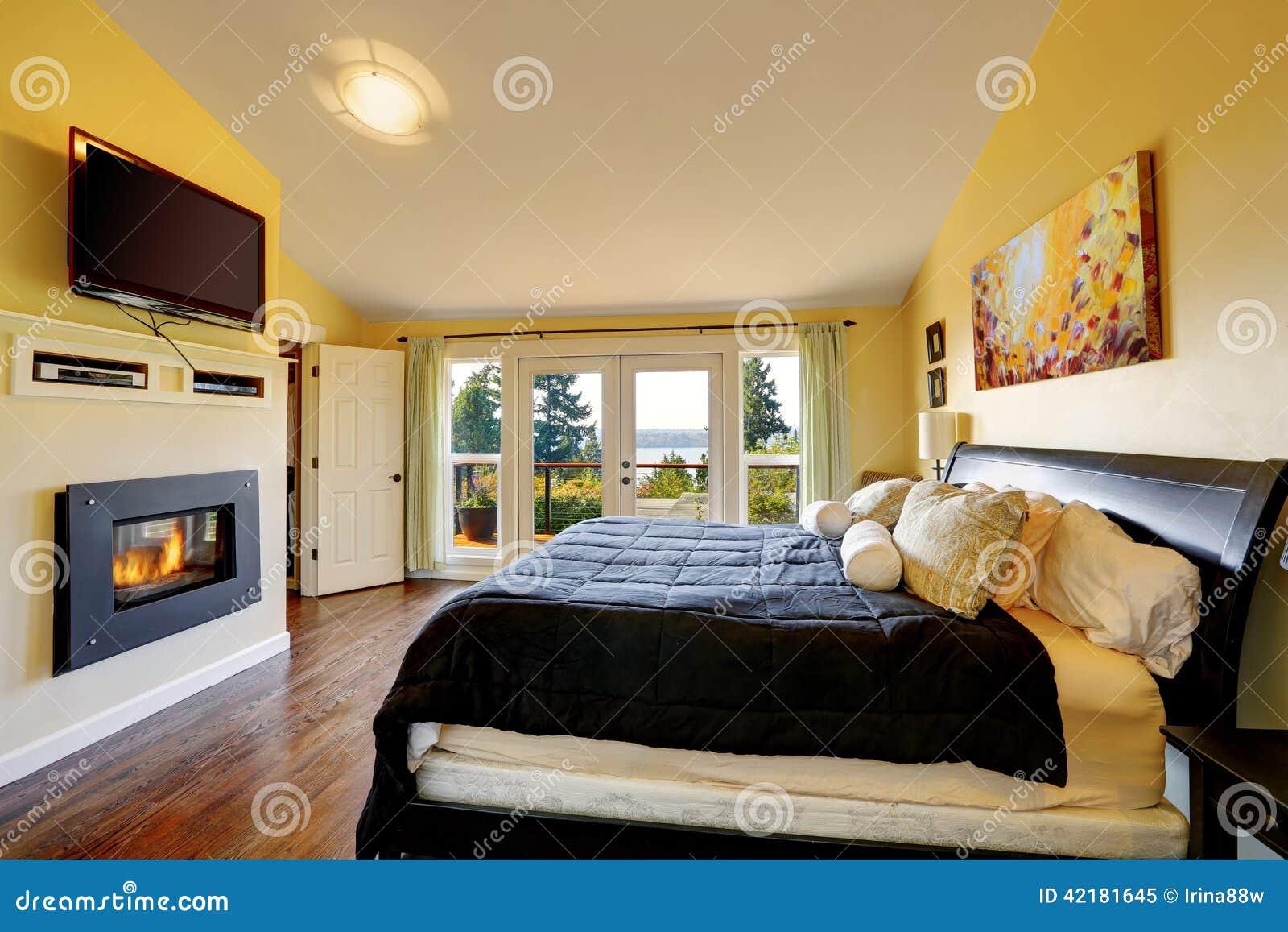 Inteiror di lusso della camera da letto principale for 12 piani casa di lusso camera da letto