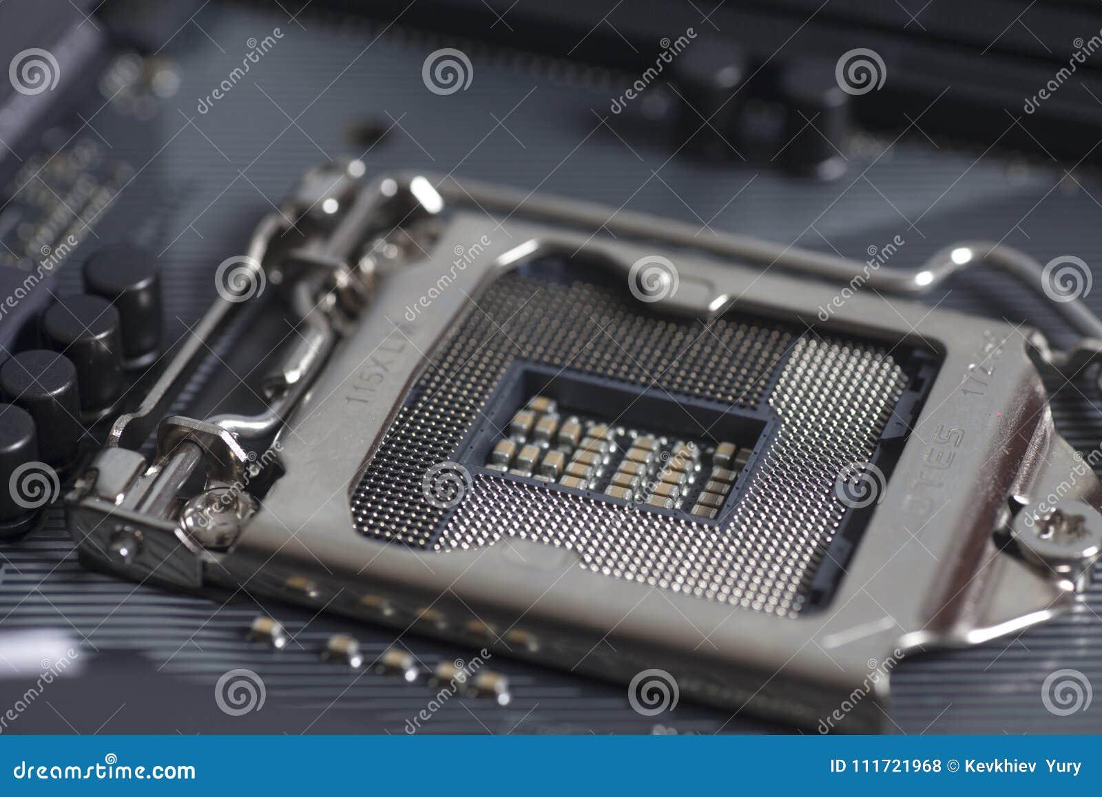 Intel LGA 1151 cpu socket on motherboard Computer PC
