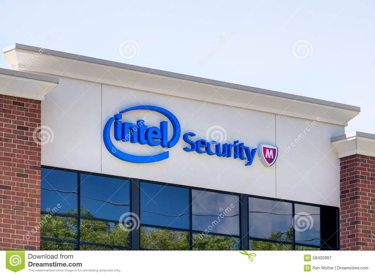 software company office. Intel Security Office Building Software Company