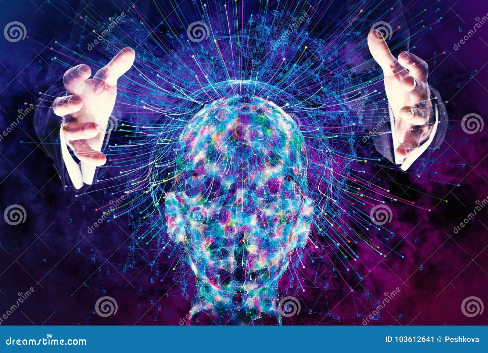 Inteligência artificial e conceito futurista