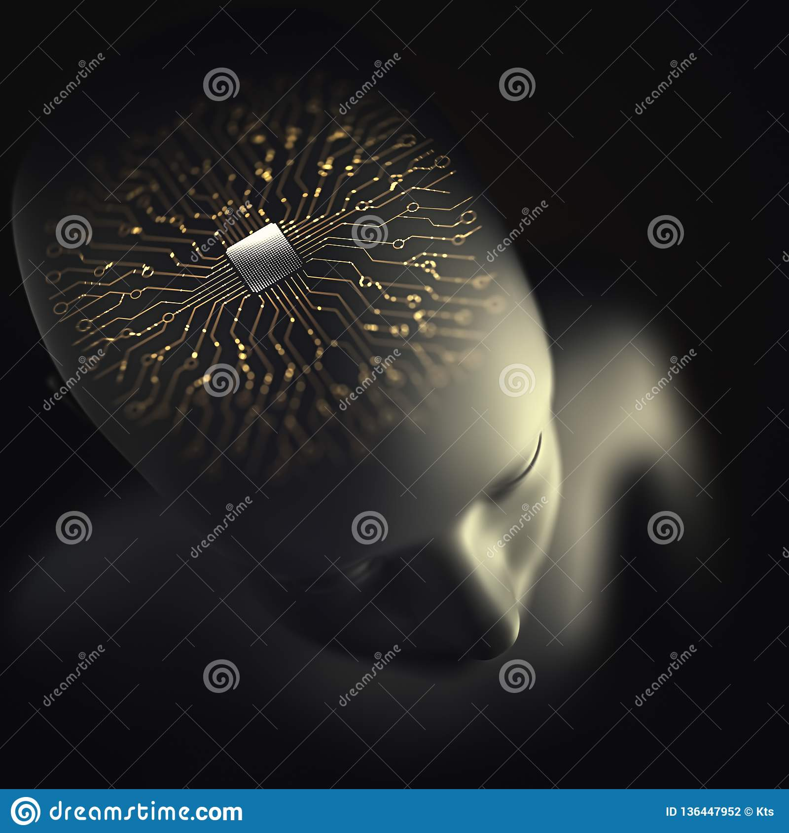 Inteligencia artificial Brain Microprocessor Nervous System