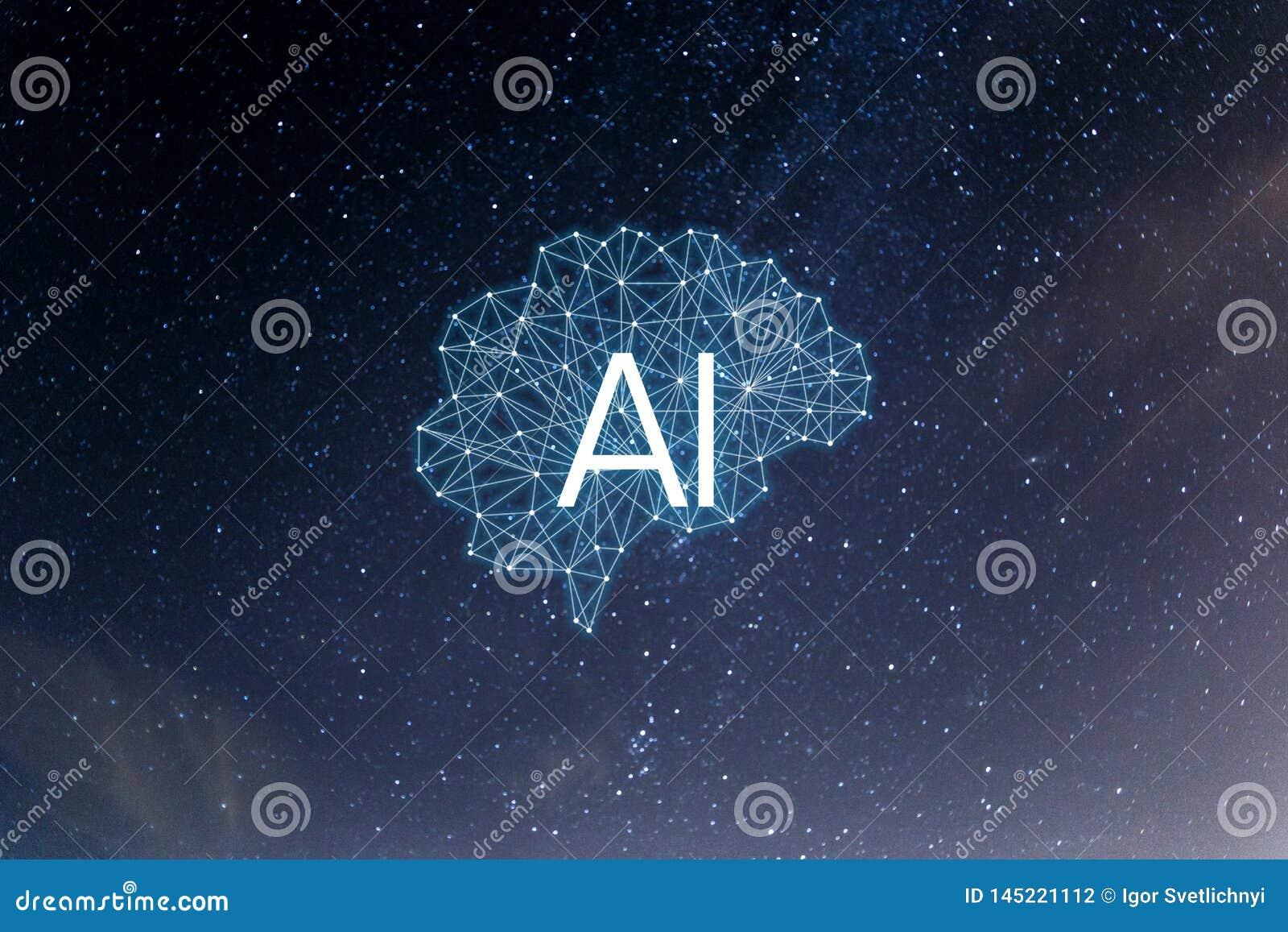 Inteligencia de AIArtificial del concepto