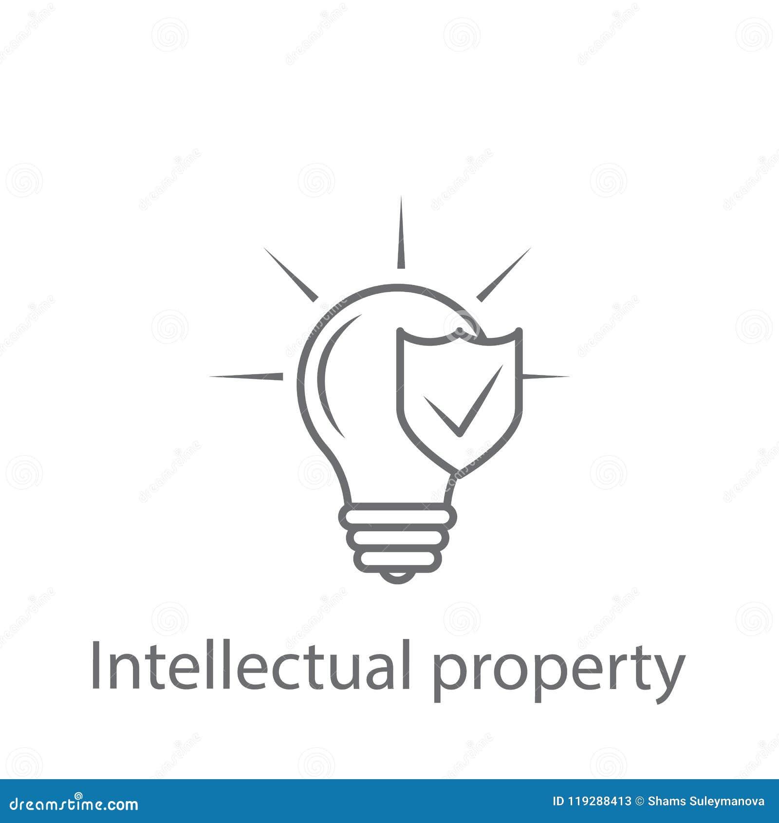 the concept of intellectual property protection  cartoon vector
