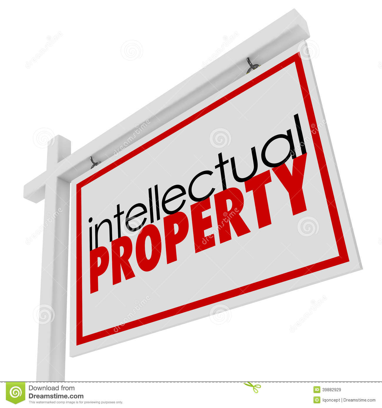 Intellectual Property For Sale Sign Advertising Licensing Origin Stock Illustration - Image ...