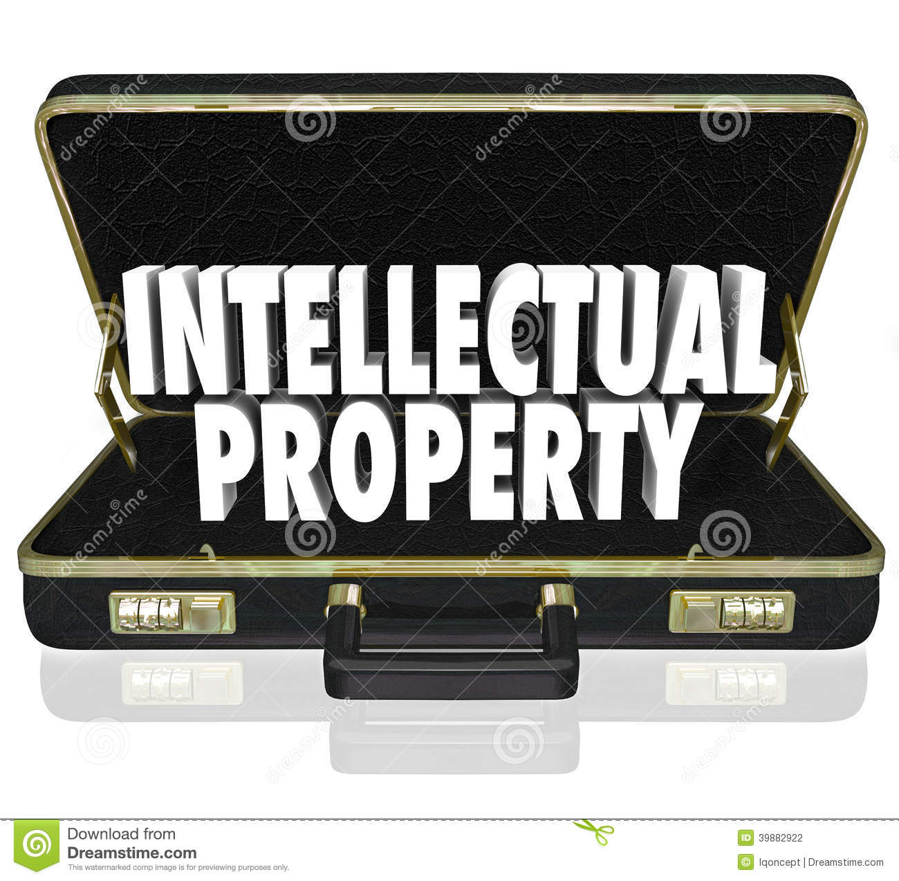 Intellectual Property Examples: Intellectual Property Words Briefcase Business License