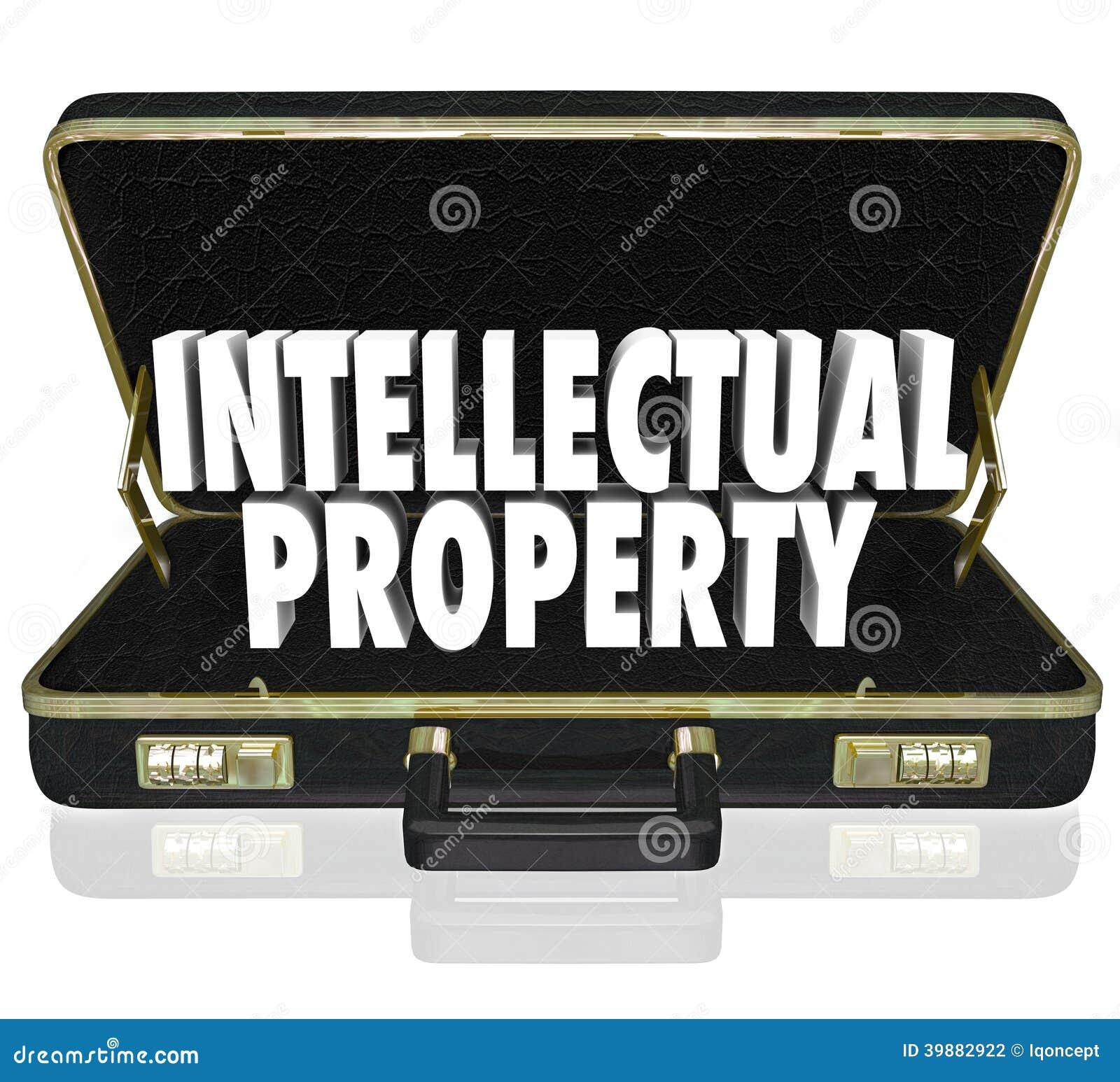 Intellectual Property: Intellectual Property Words Briefcase Business License