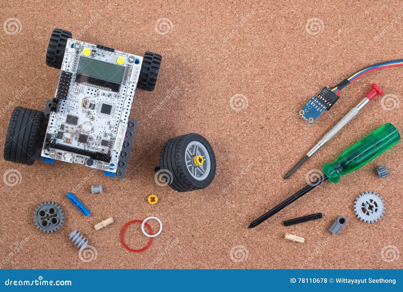 Intellektuell för robotleksak för utveckling DIY sats för enhet