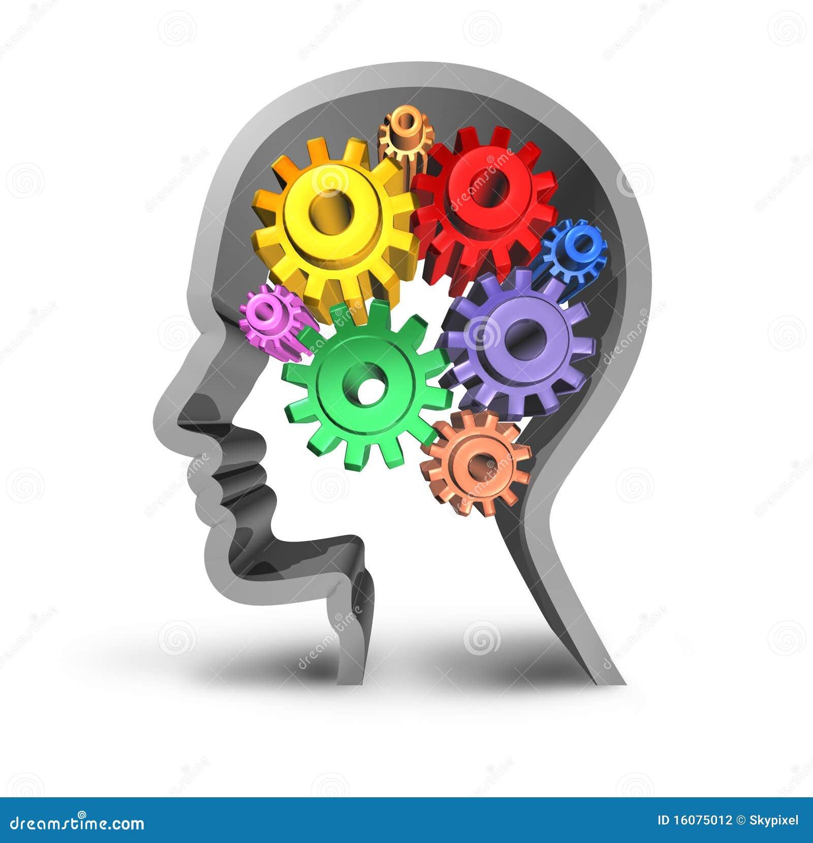 Intelligence d activit de cerveau for Photographie de stock