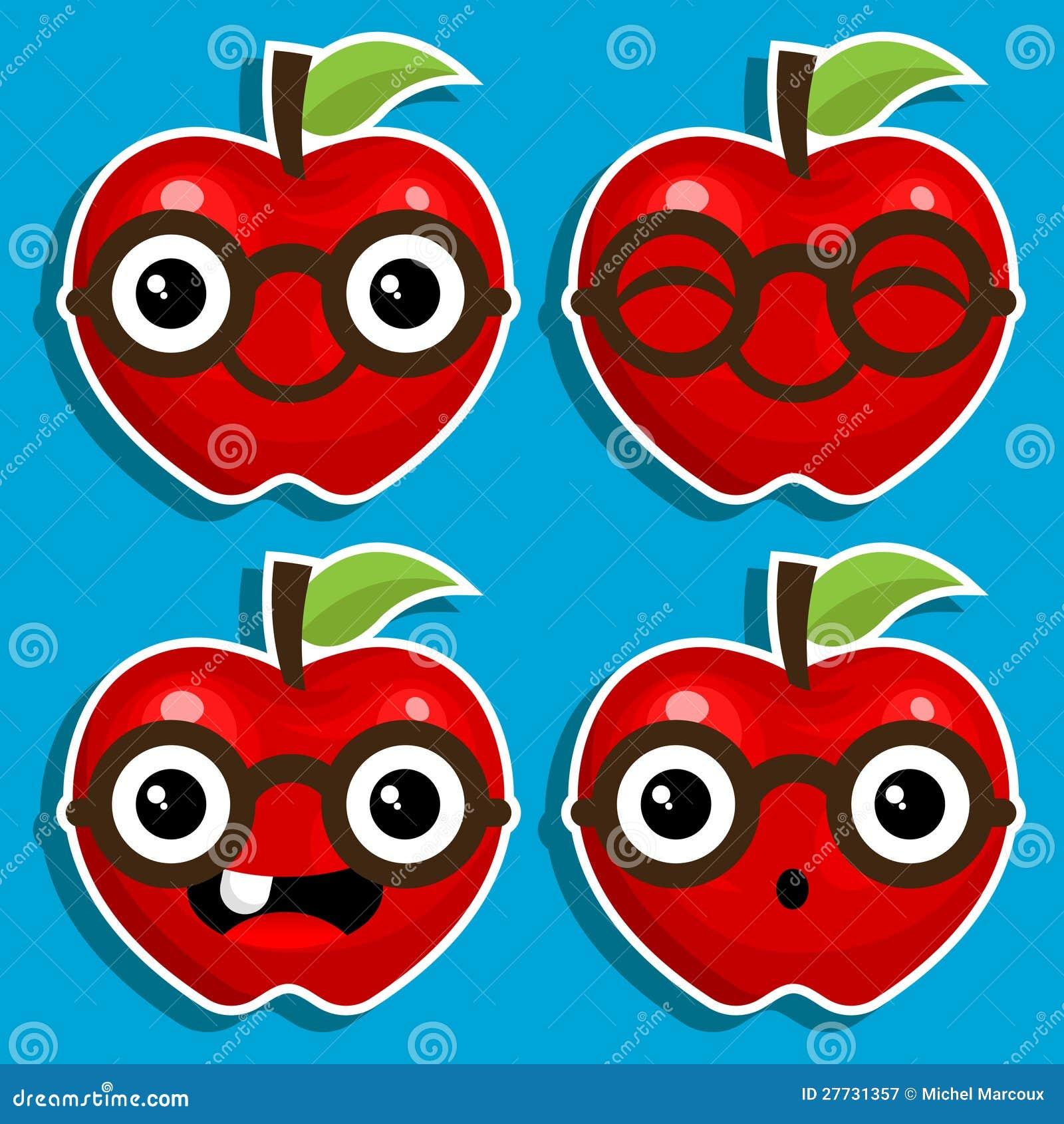 Intelligente Äpfel mit Brillen