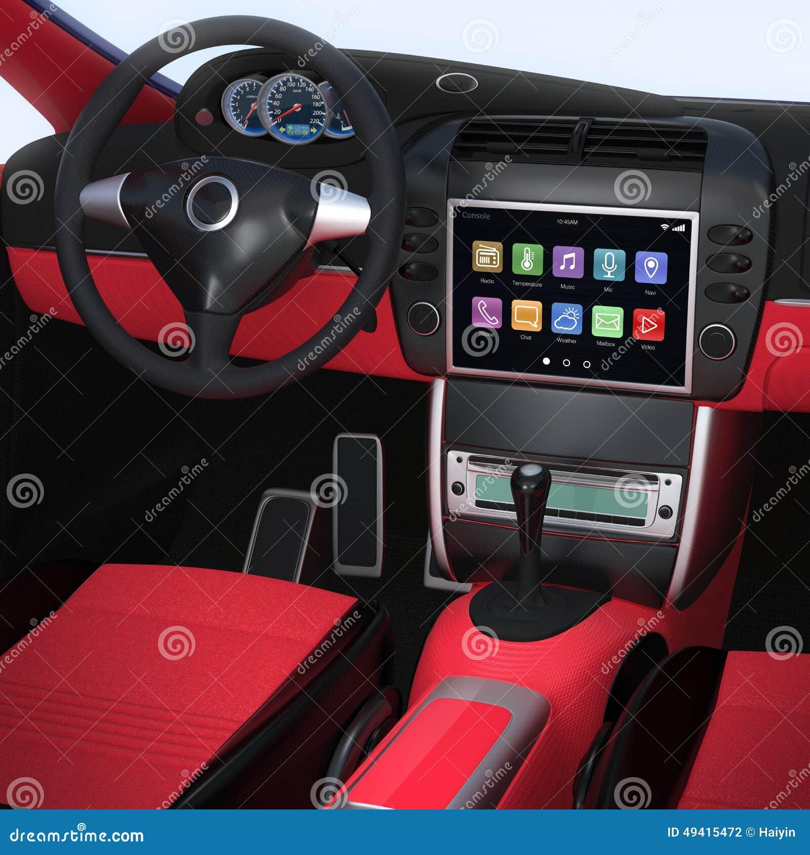 Download Intelligente Autonavigationsschnittstelle Im Ursprünglichen Design Stockfoto - Bild von auslegung, netz: 49415472