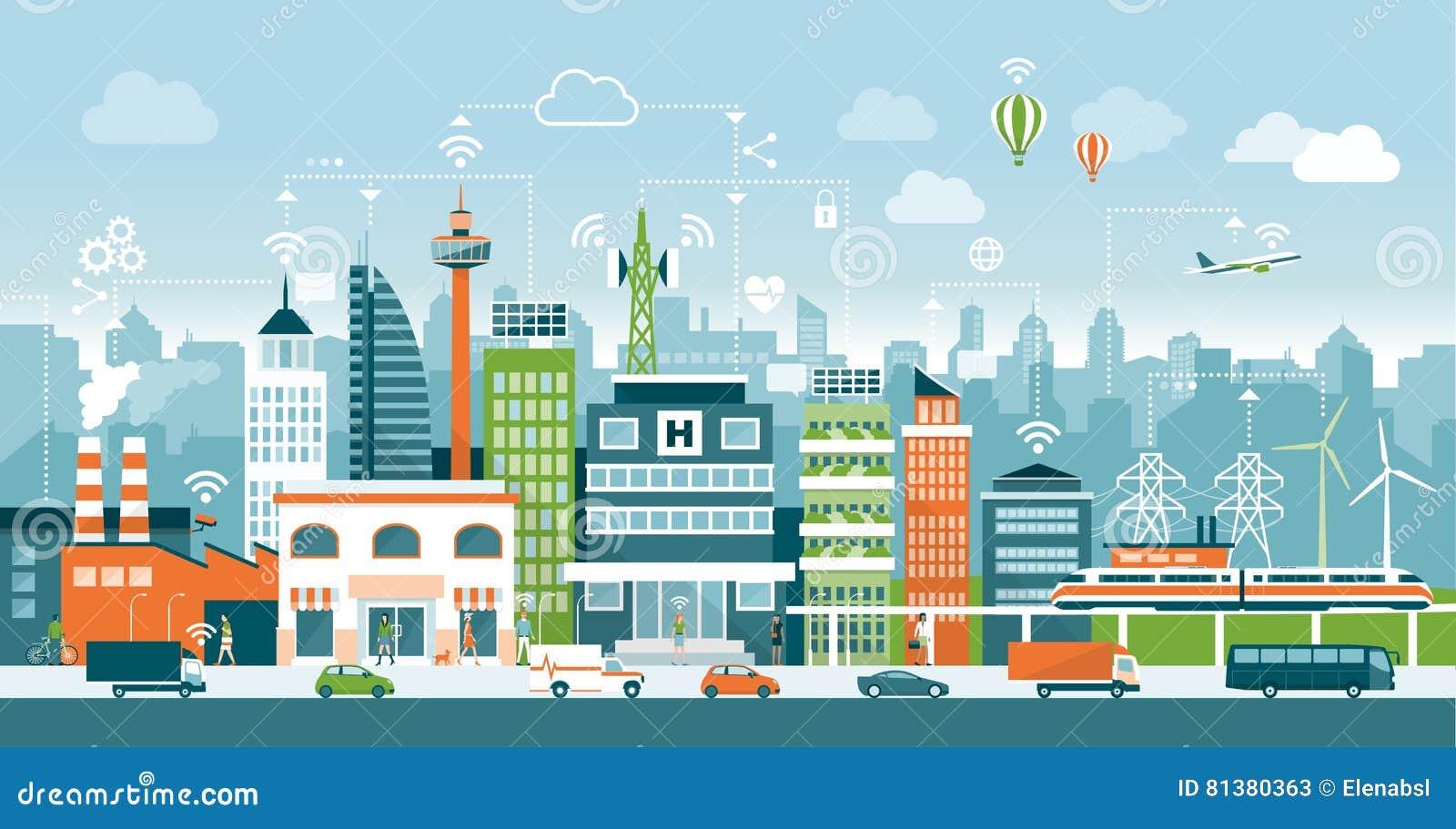 Intelligente Stadt